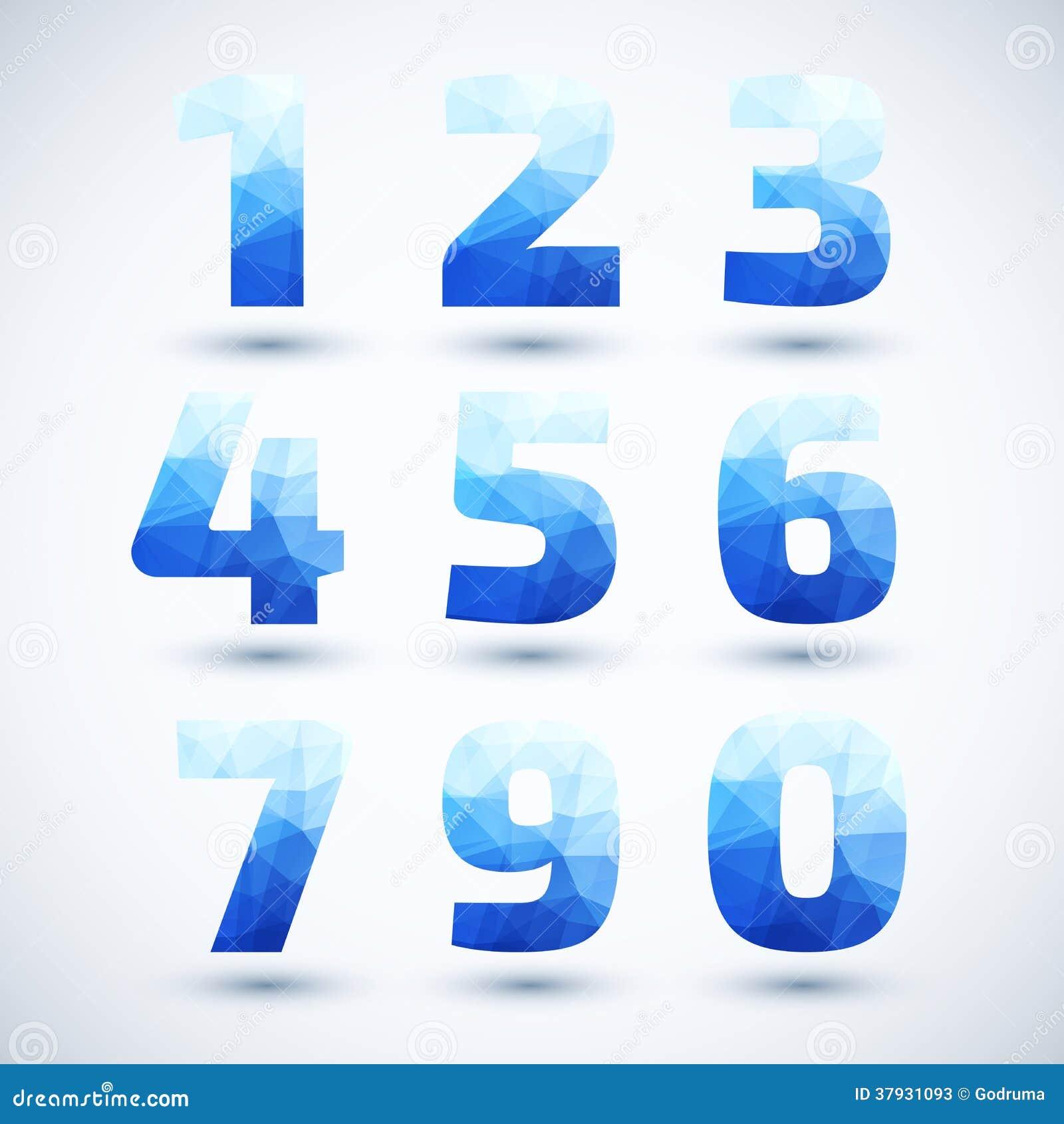 Голубые номера установили современный геометрический стиль.