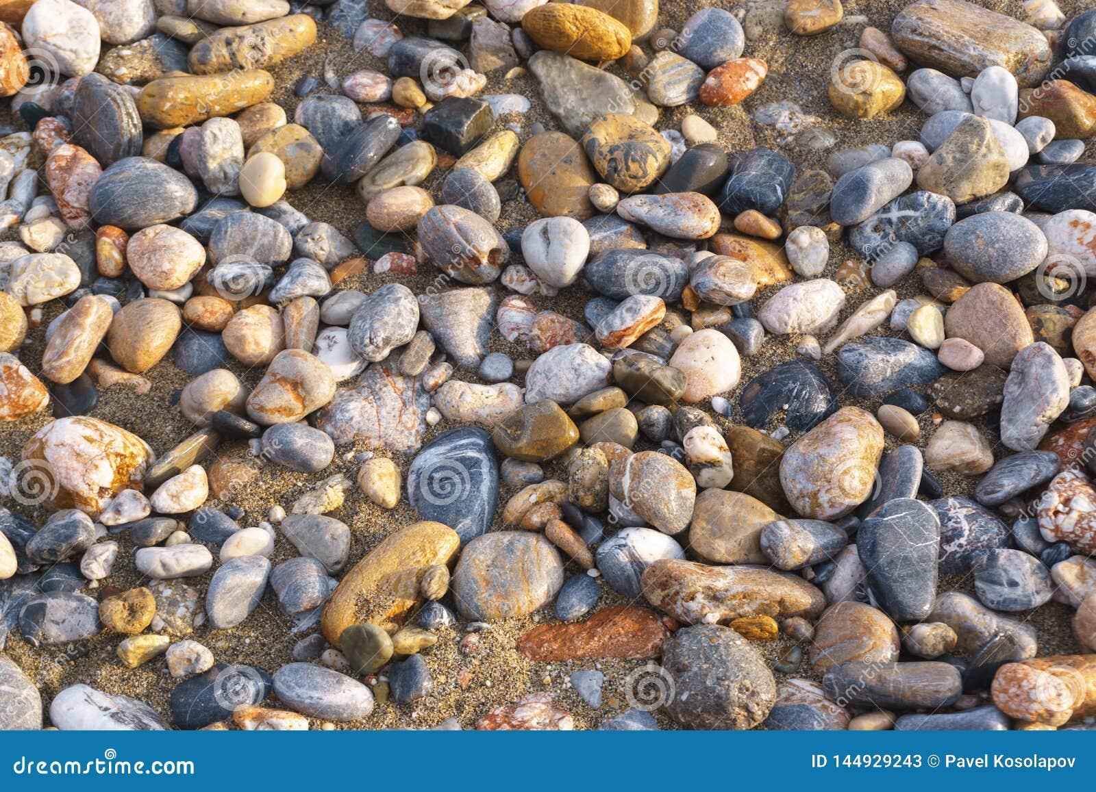 Гравий на береге моря