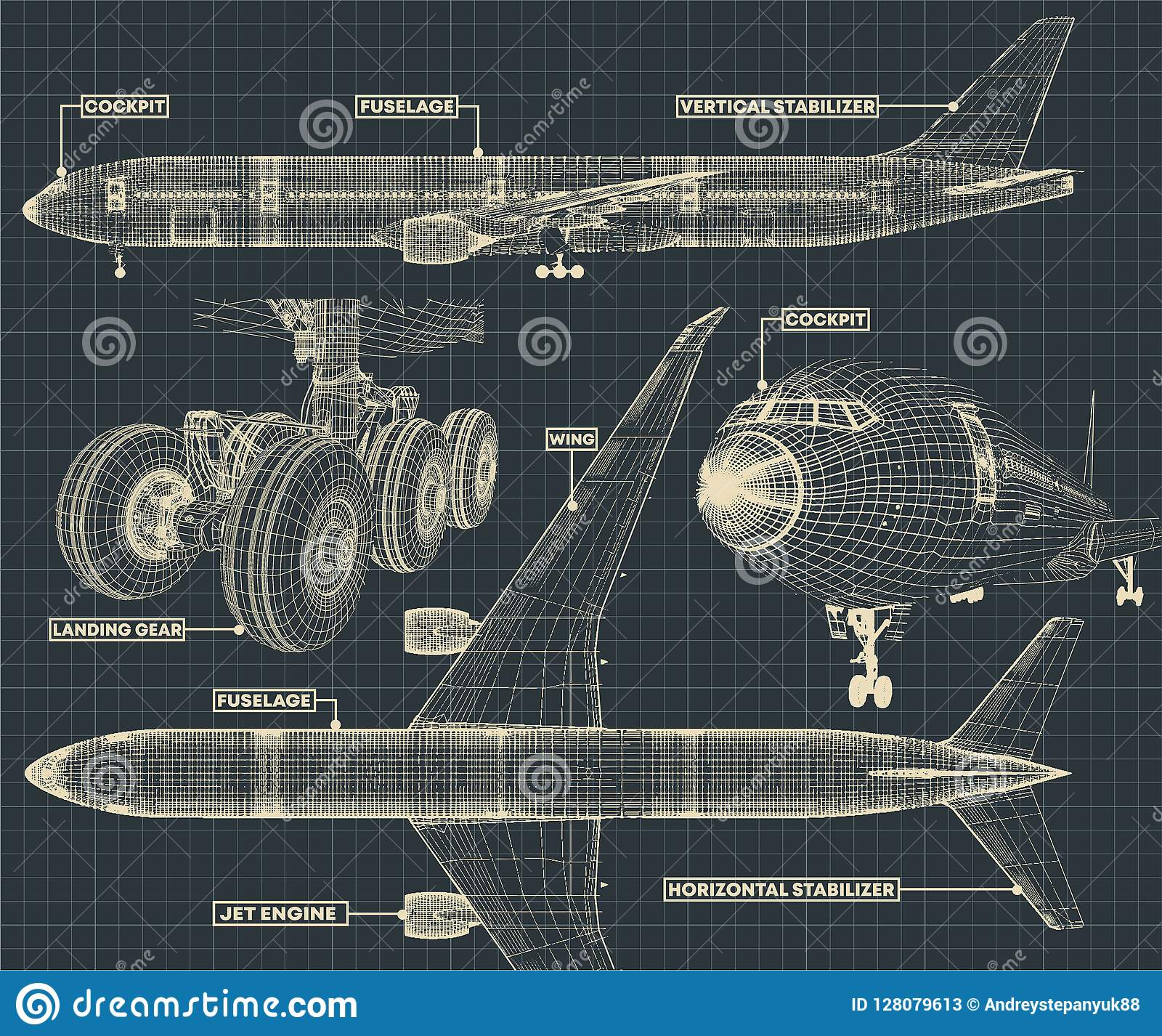 Гражданская часть чертежа авиалайнера