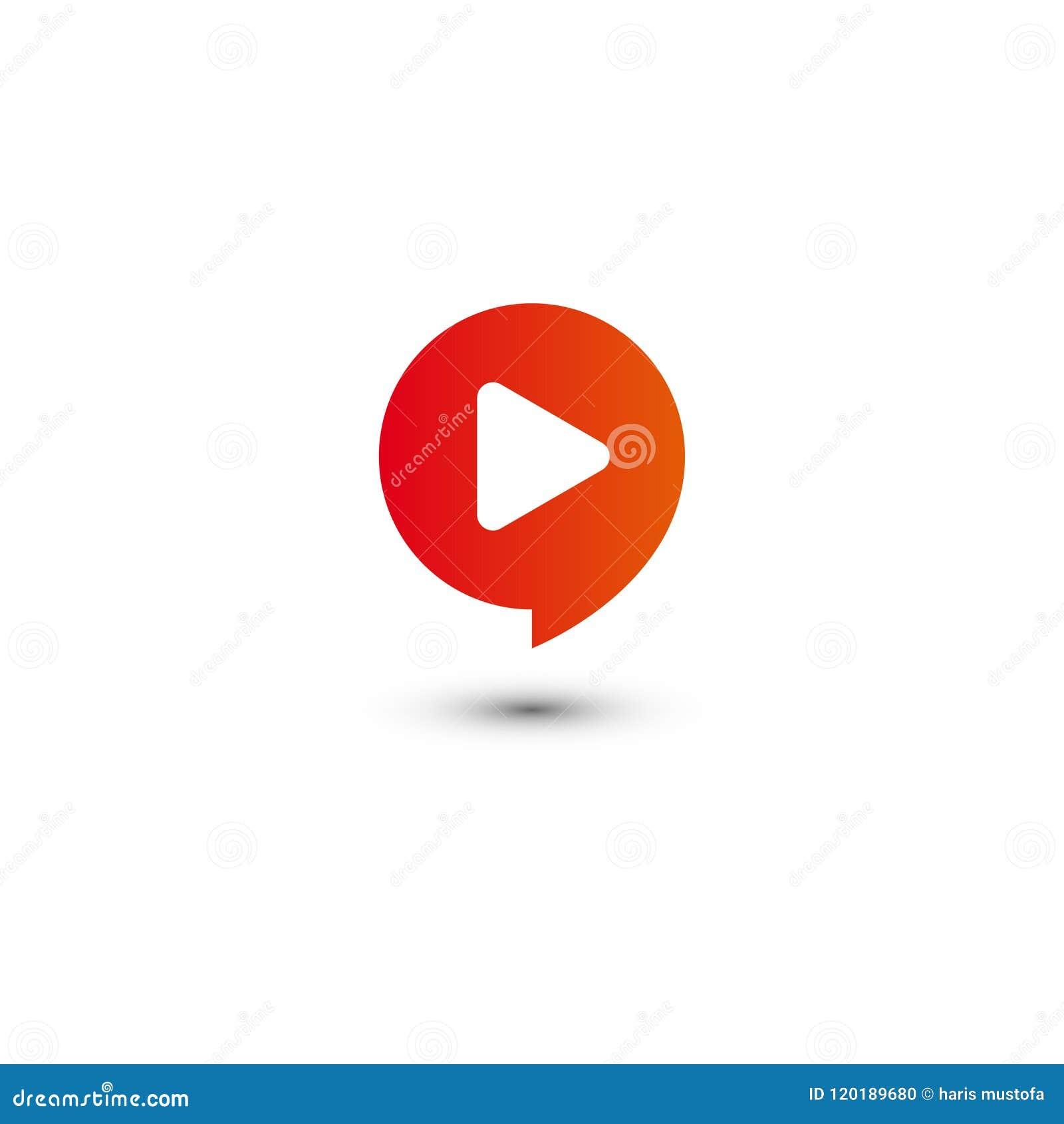 График логотипа мультимедиа кнопки игры