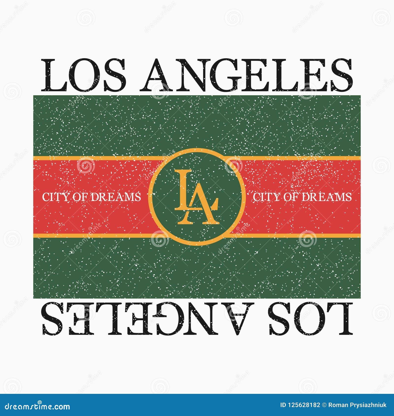 График Лос-Анджелеса для футболки моды с лозунгом Печать оформления для одежд и футболки дизайна вектор