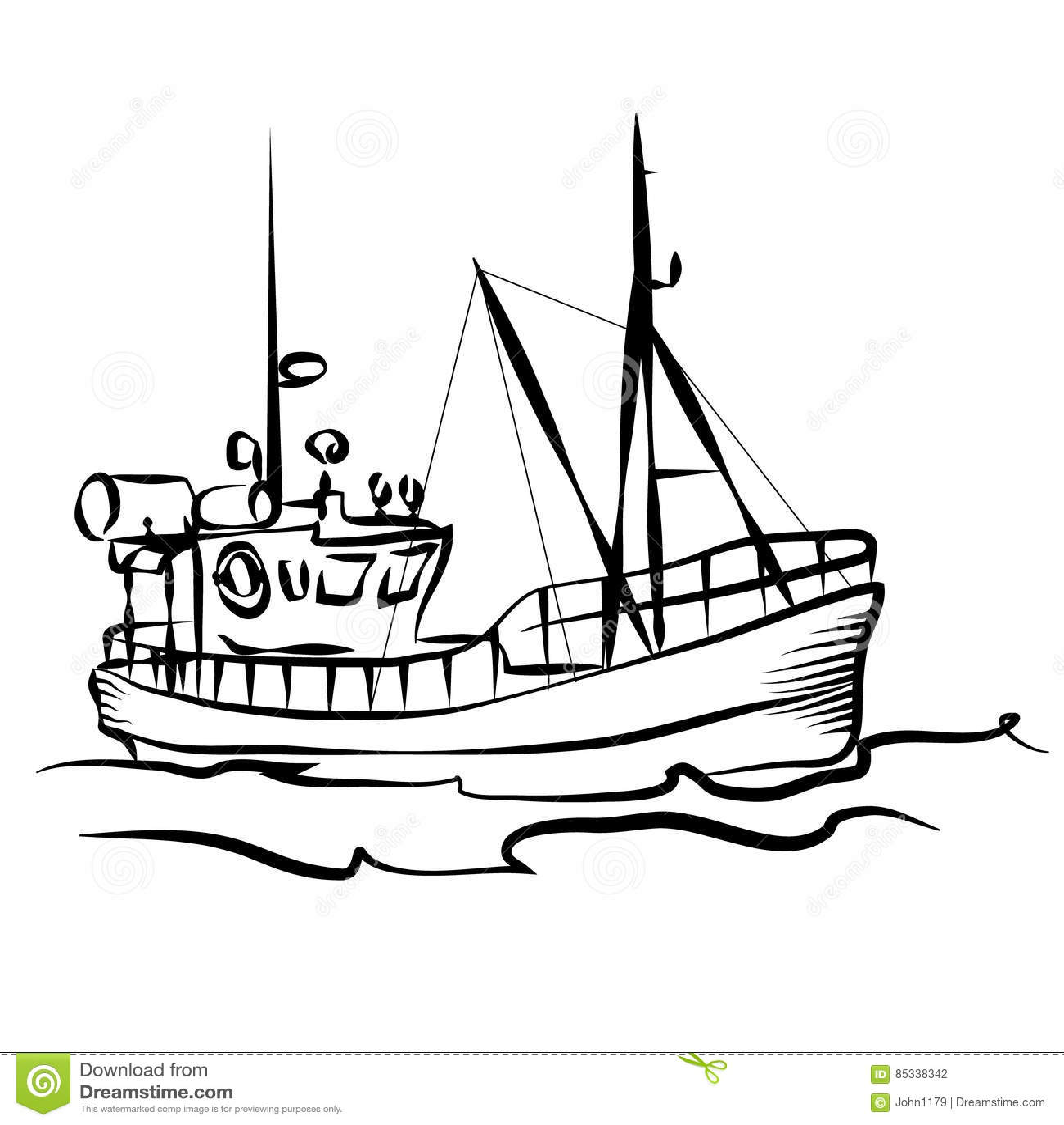 График рыбацкой лодки