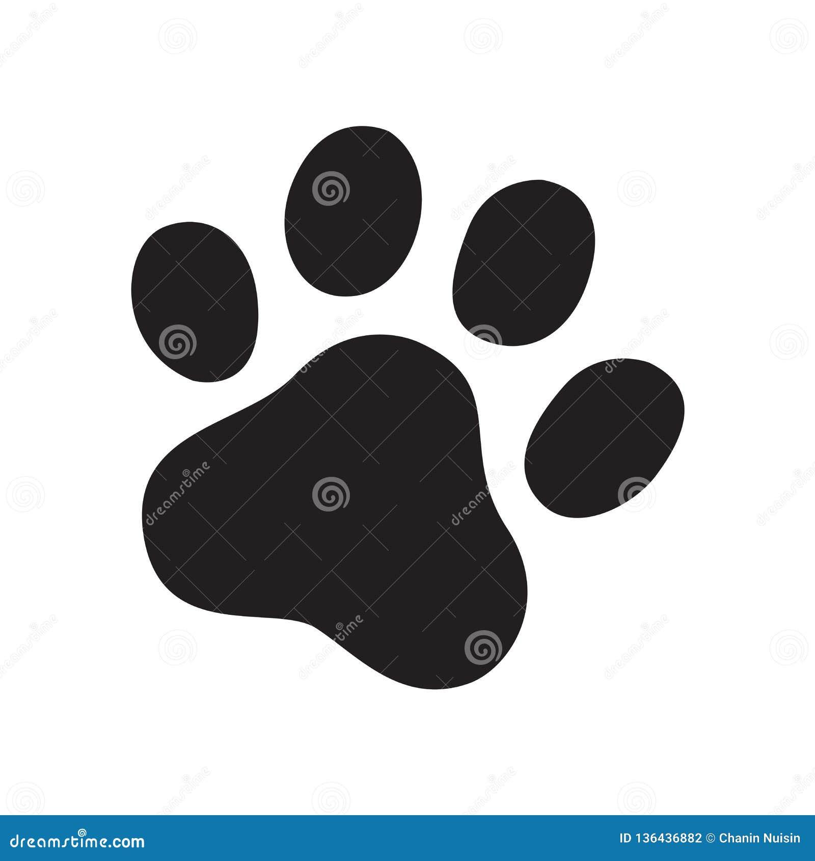 График doodle иллюстрации знака мультфильма символа французского бульдога кота логотипа значка следа ноги вектора лапки собаки