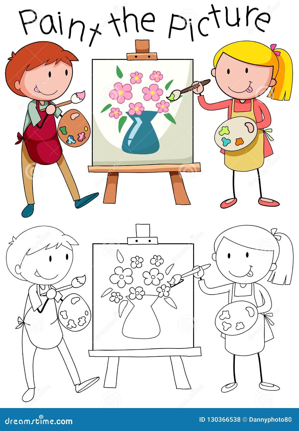 График Doodle искусства