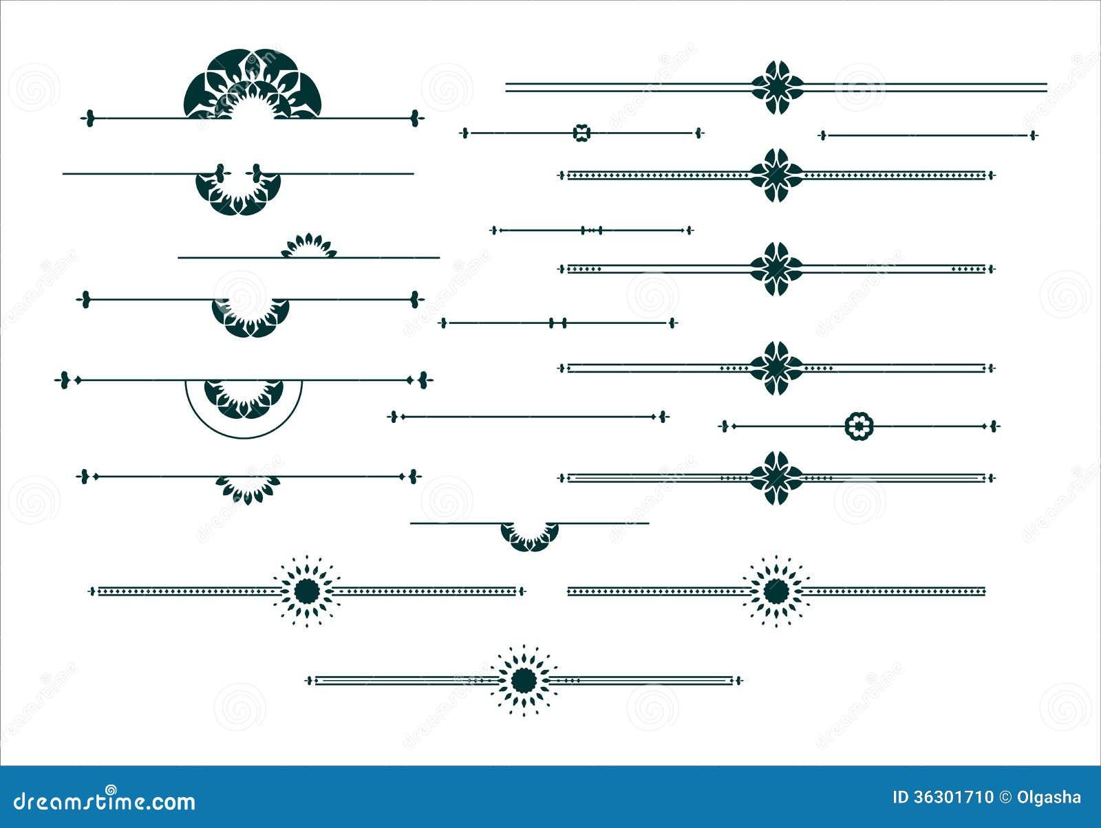 Графический декоративный комплект элементов