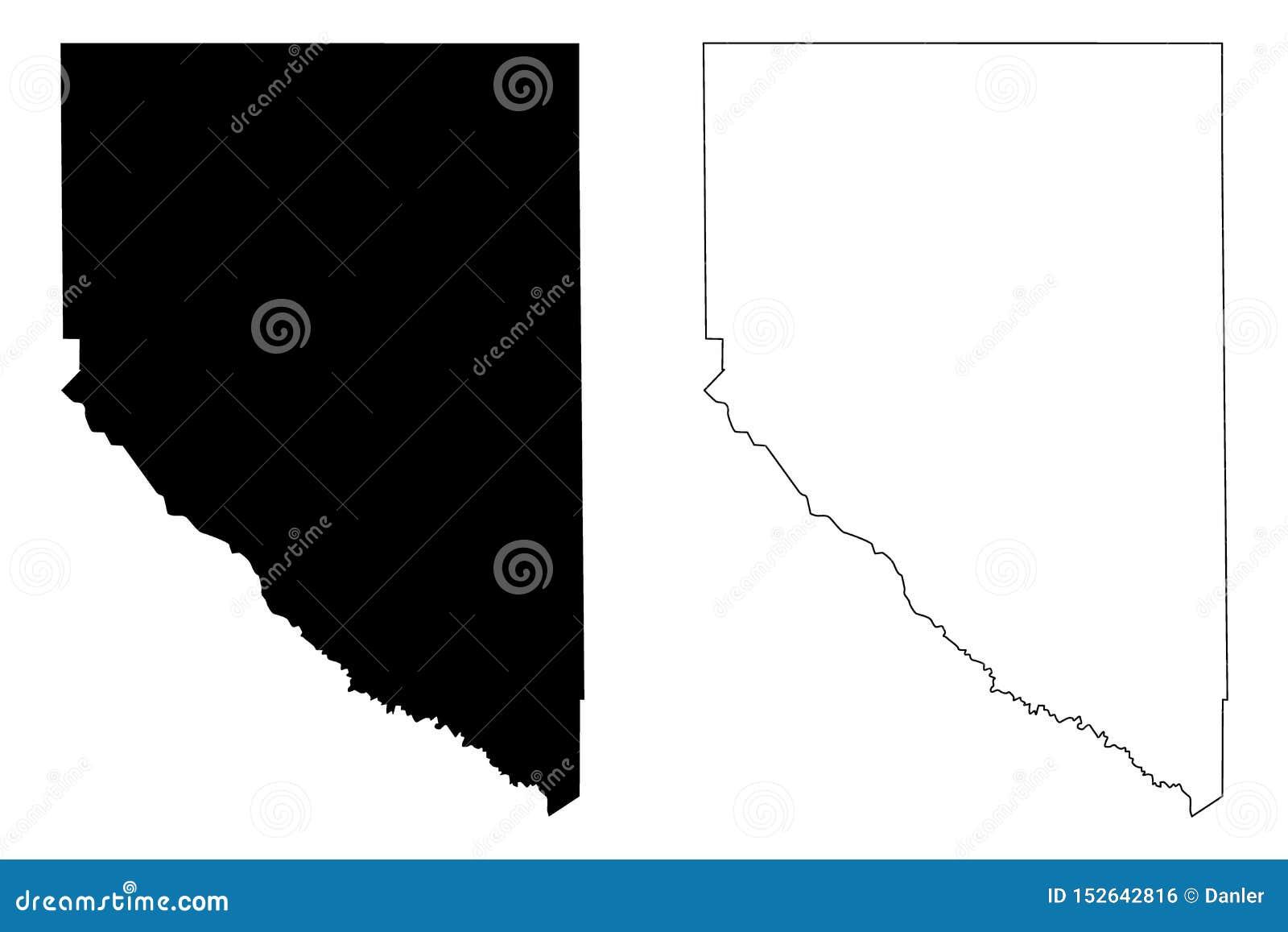 Графства Hudspeth County, Техаса в Техасе, Соединенных Штатах Америки, США, u S , Иллюстрация вектора карты США, эскиз scribble