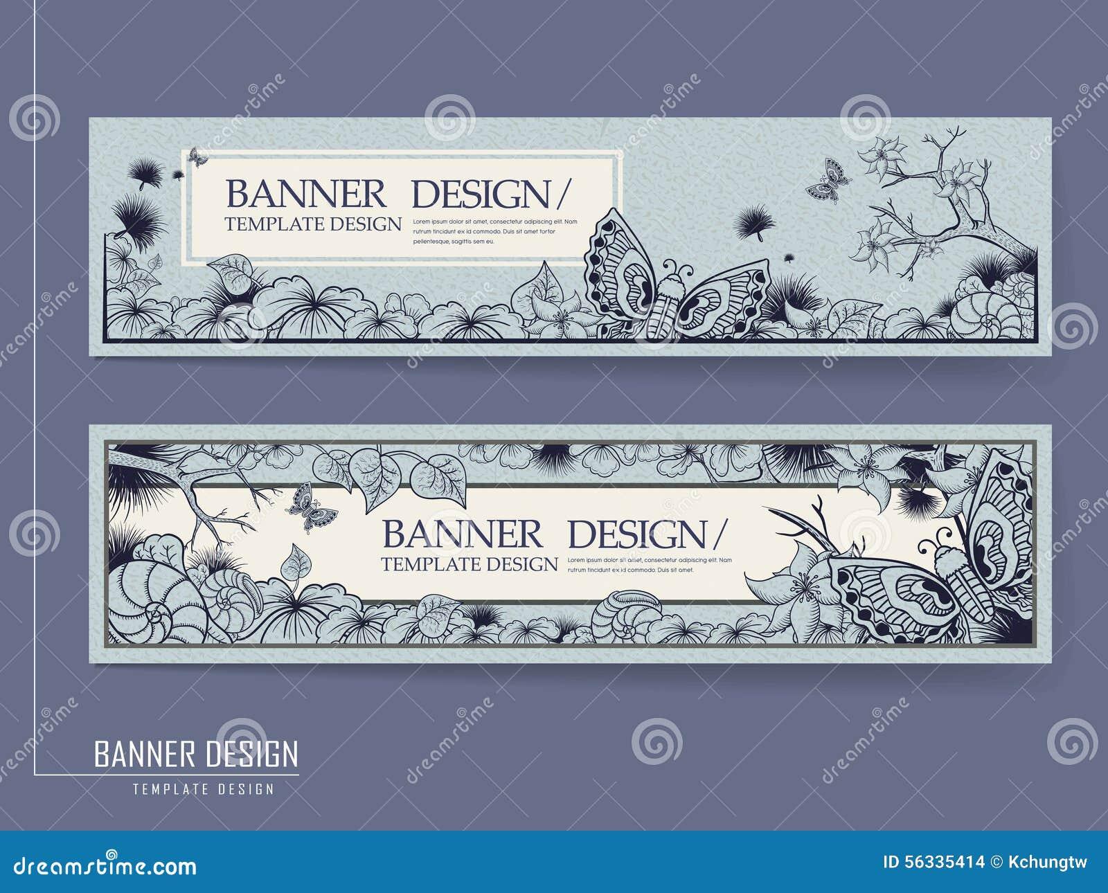 Грациозно дизайн знамени с бабочками