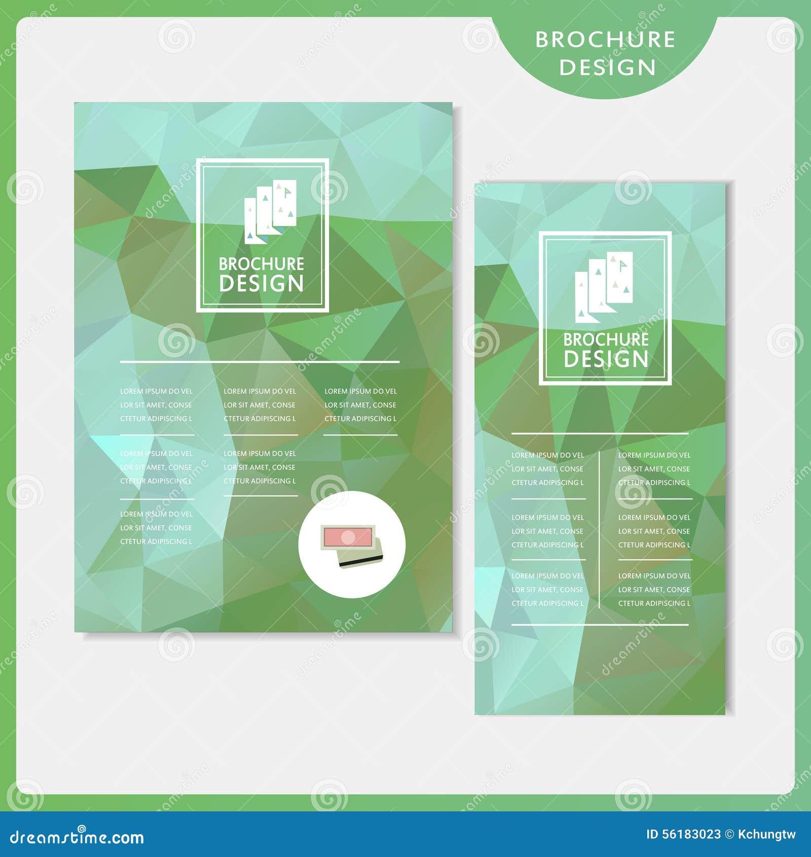 Грациозно комплект дизайна шаблона брошюры