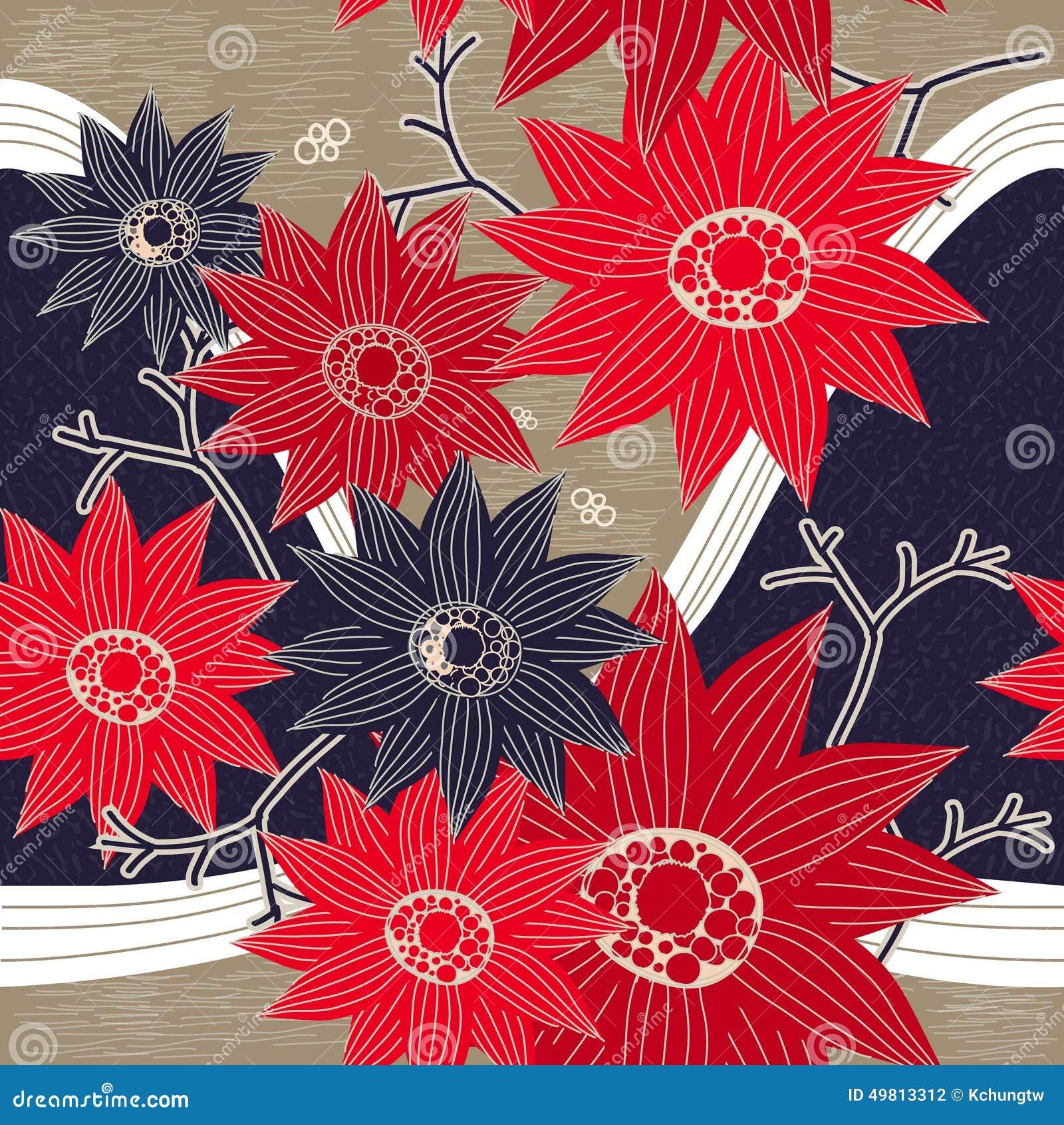 Грациозно красные и голубые цветки