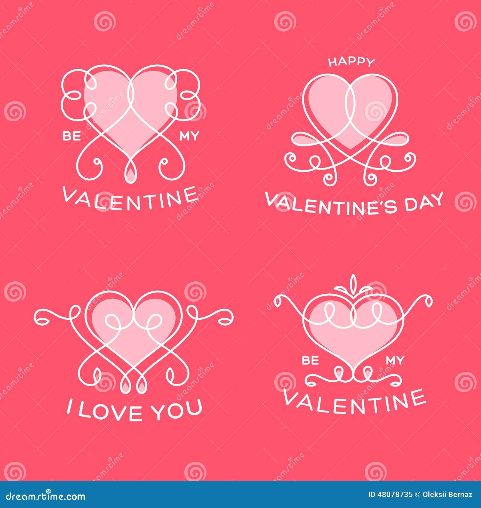 Грациозно флористическая линия сердца валентинки вектора стиля