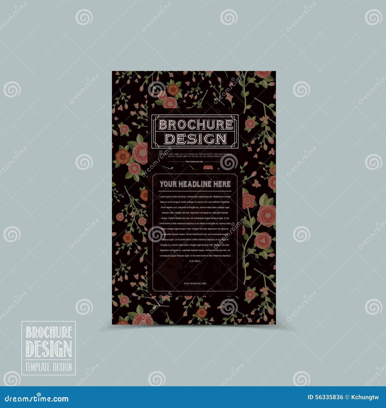 Грациозно флористический дизайн шаблона брошюры
