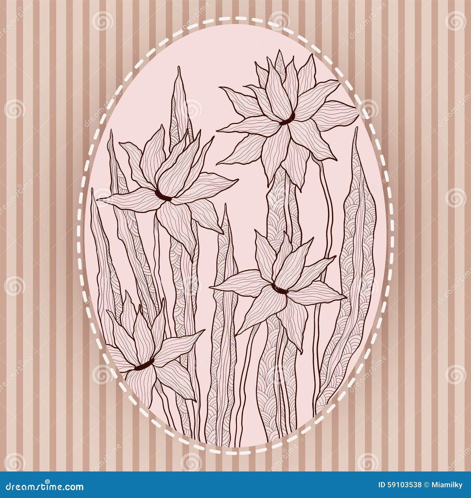 Грациозно цветки в винтажной рамке