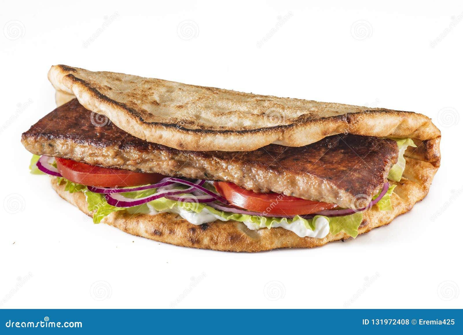 Пита с курицей и дзадзики - пошаговый рецепт с фото на Повар.ру | 1157x1600
