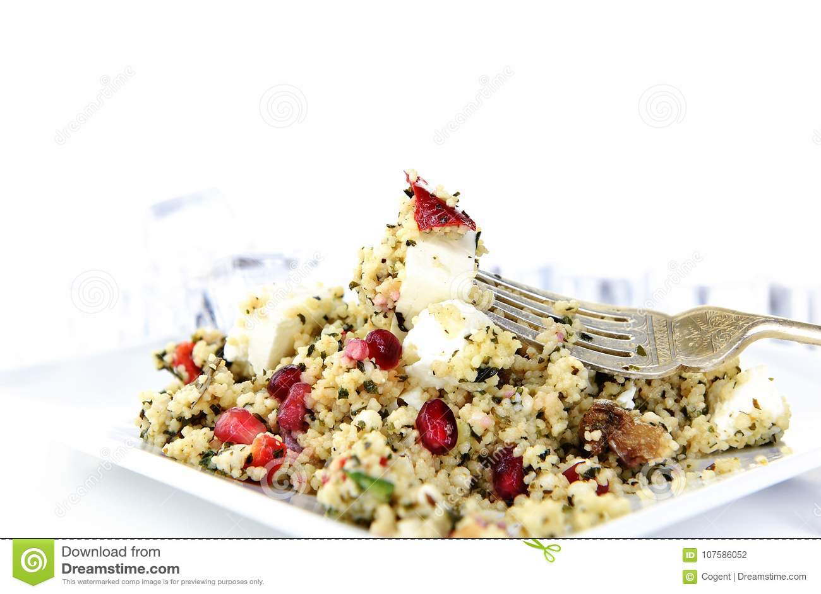 Греческий салат III кускус фета