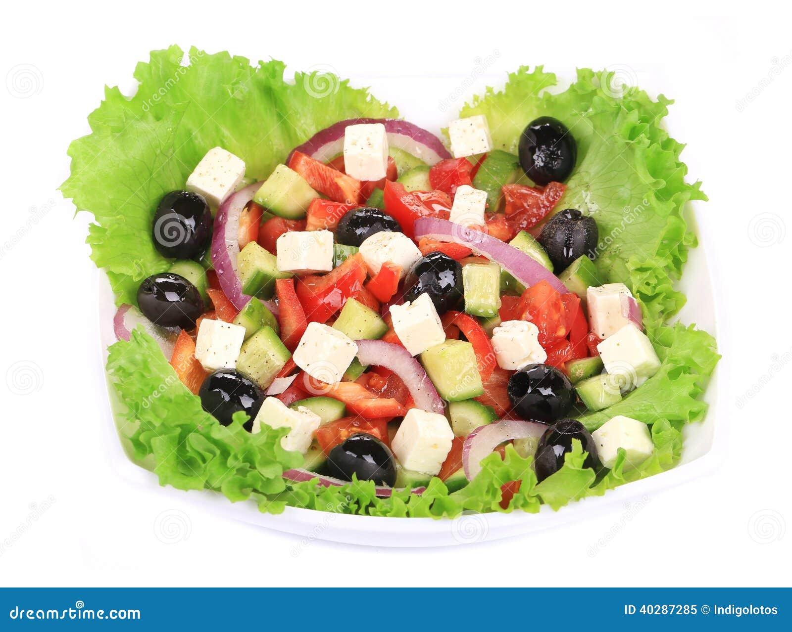 Греческий салат в плите.