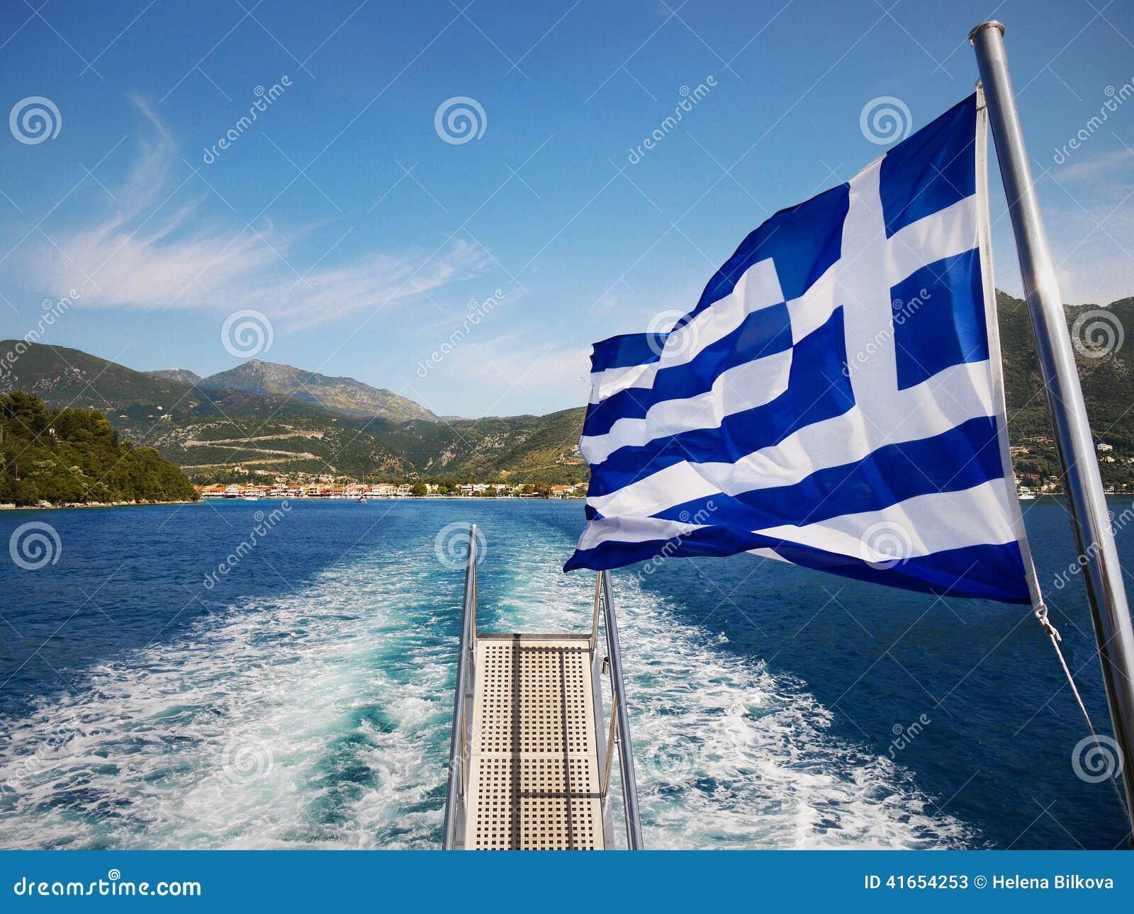 Греческое туристическое судно флага