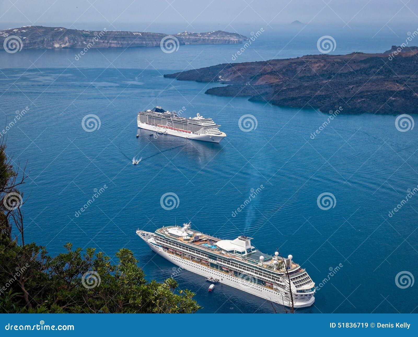 Греческое туристическое судно Santorini островов