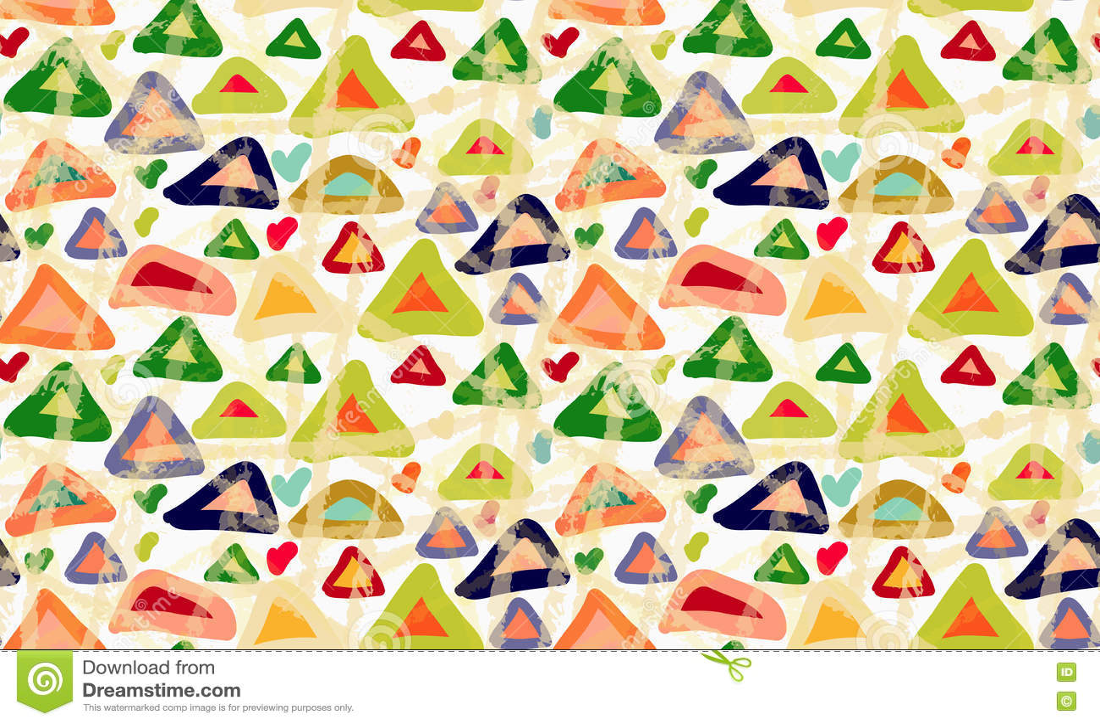 Грубой треугольники покрашенные щеткой с пятнами
