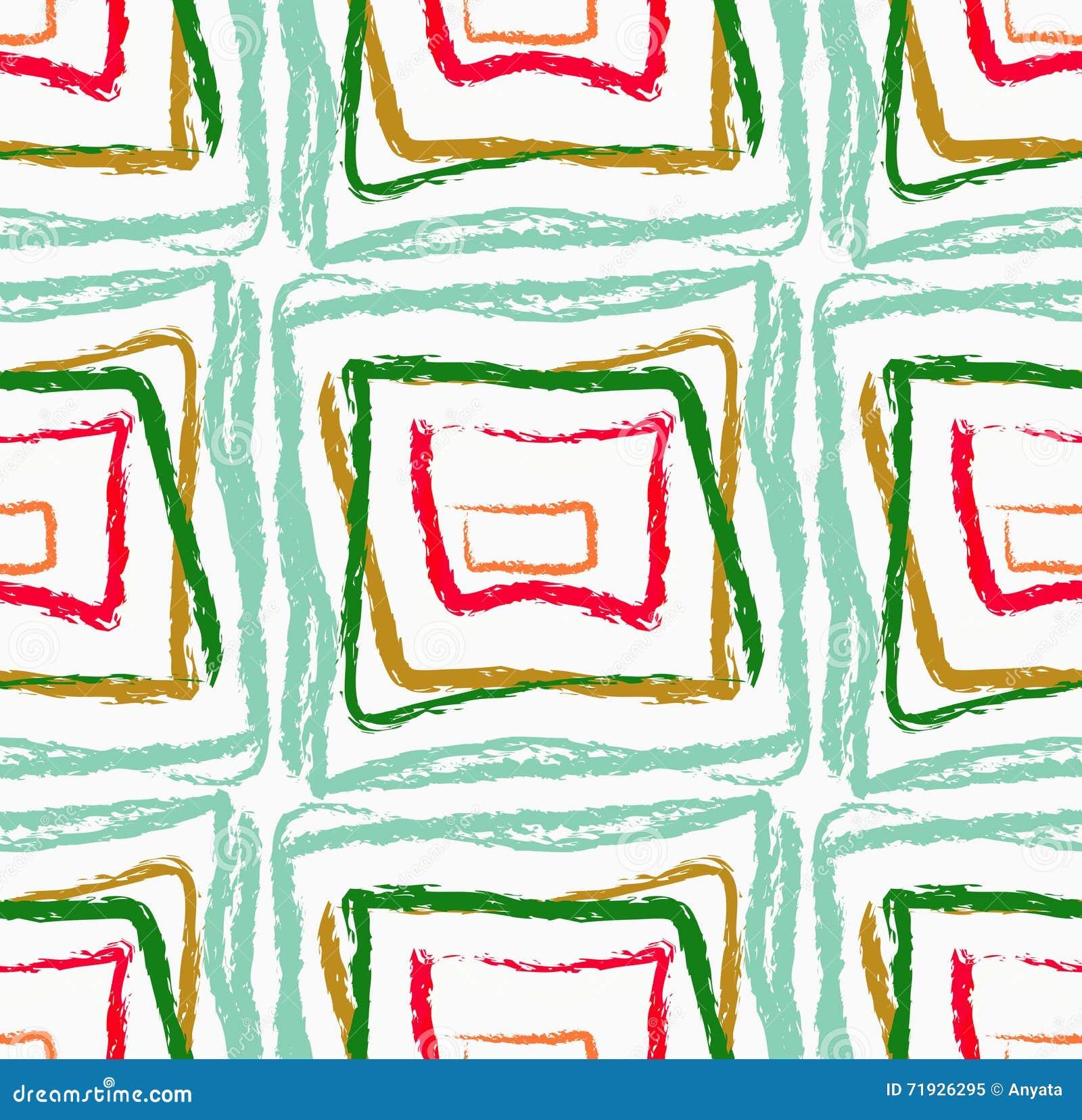 Грубые зеленый цвет и красные площади щетки