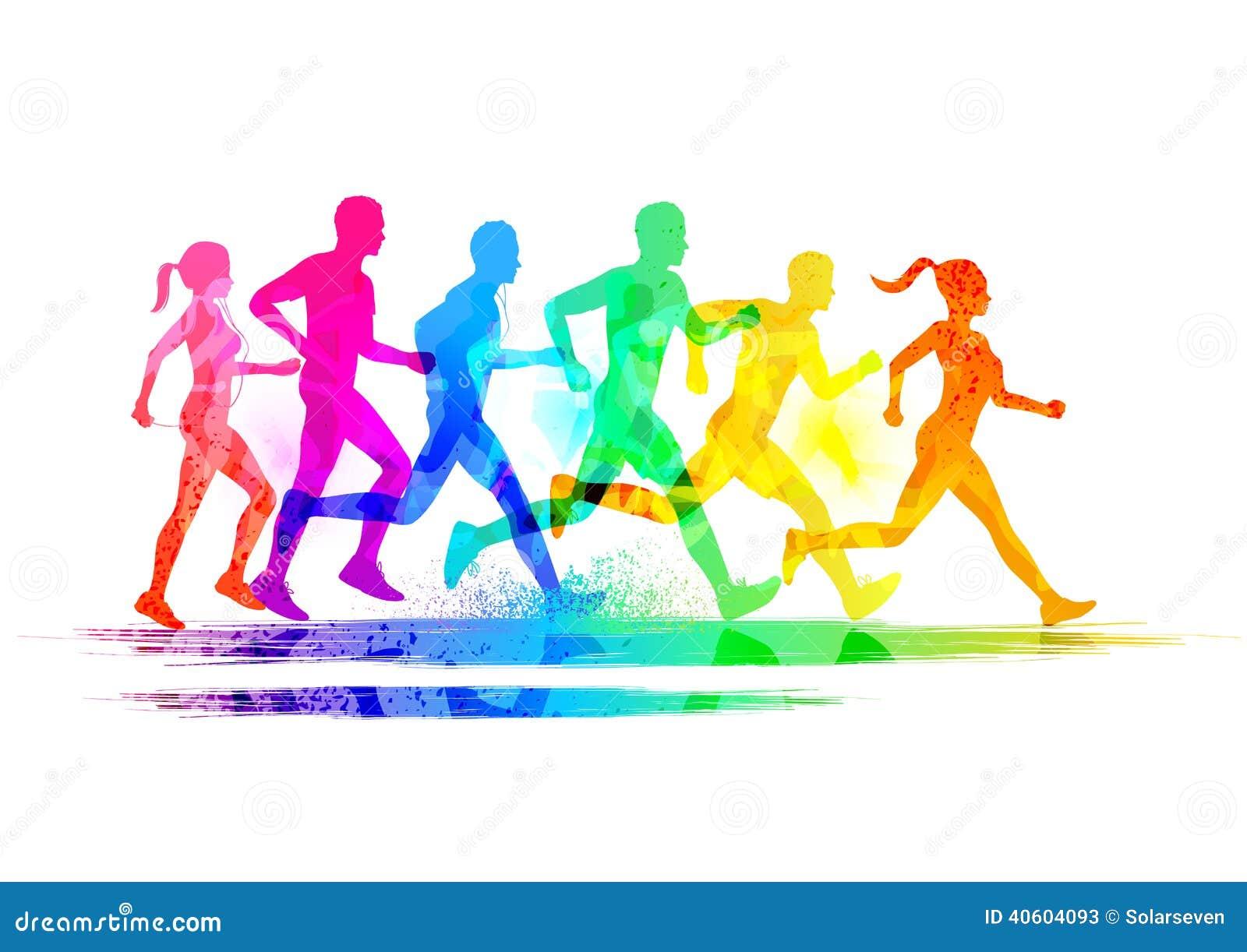 Группа в составе бегуны