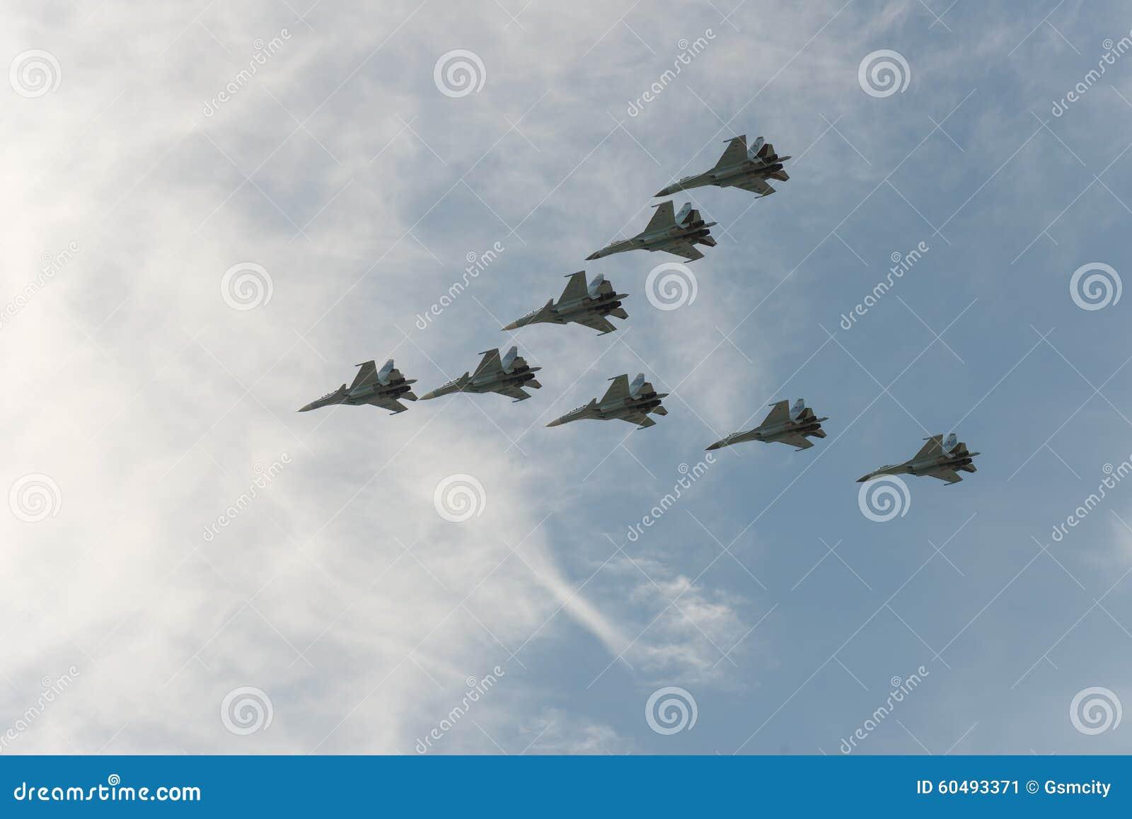 Группа в составе самолеты Sukhoi