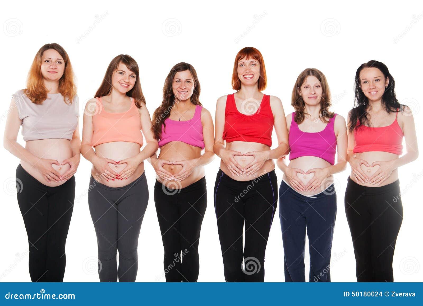Беременная с шестью детьми