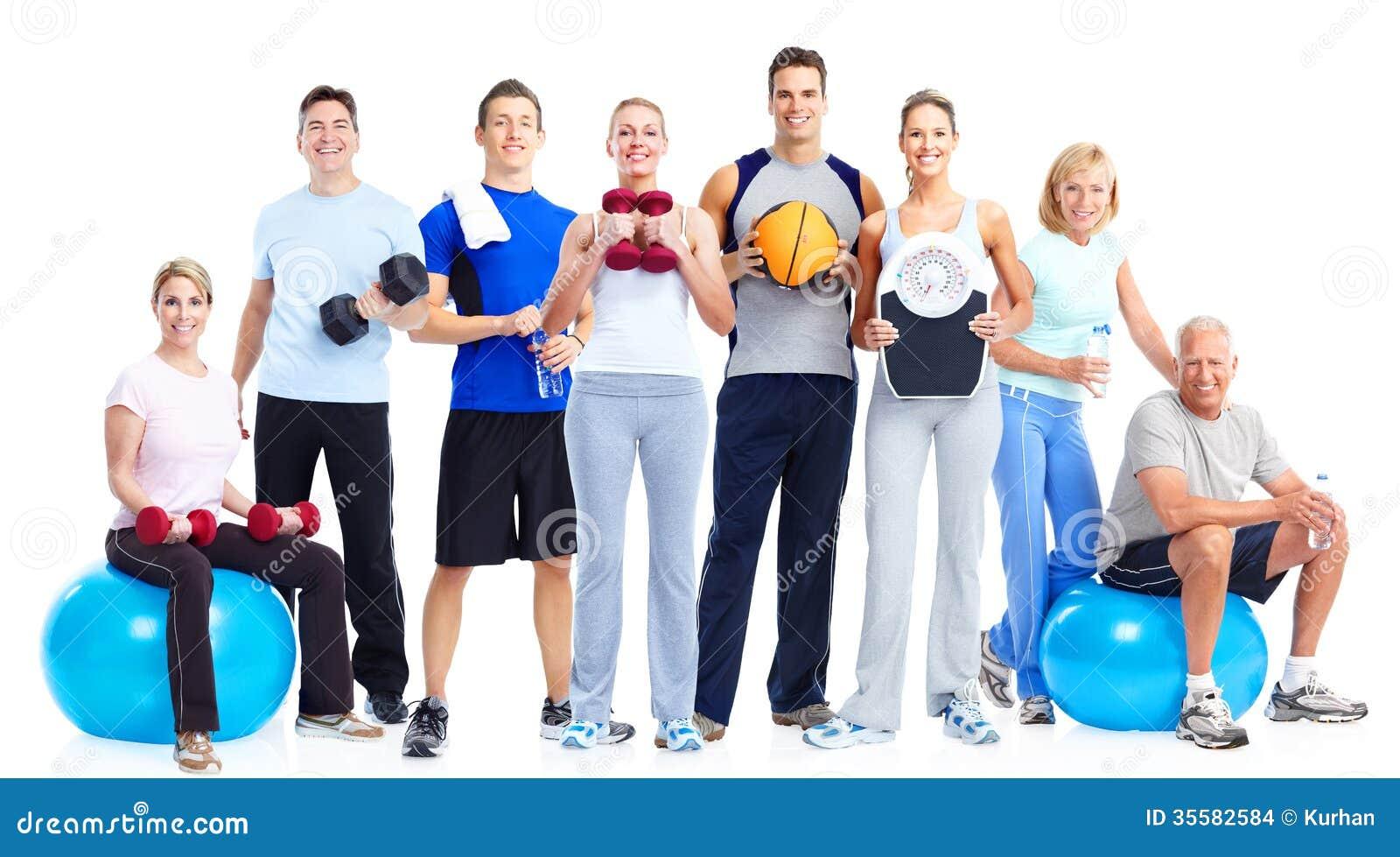 Группа в составе люди фитнеса
