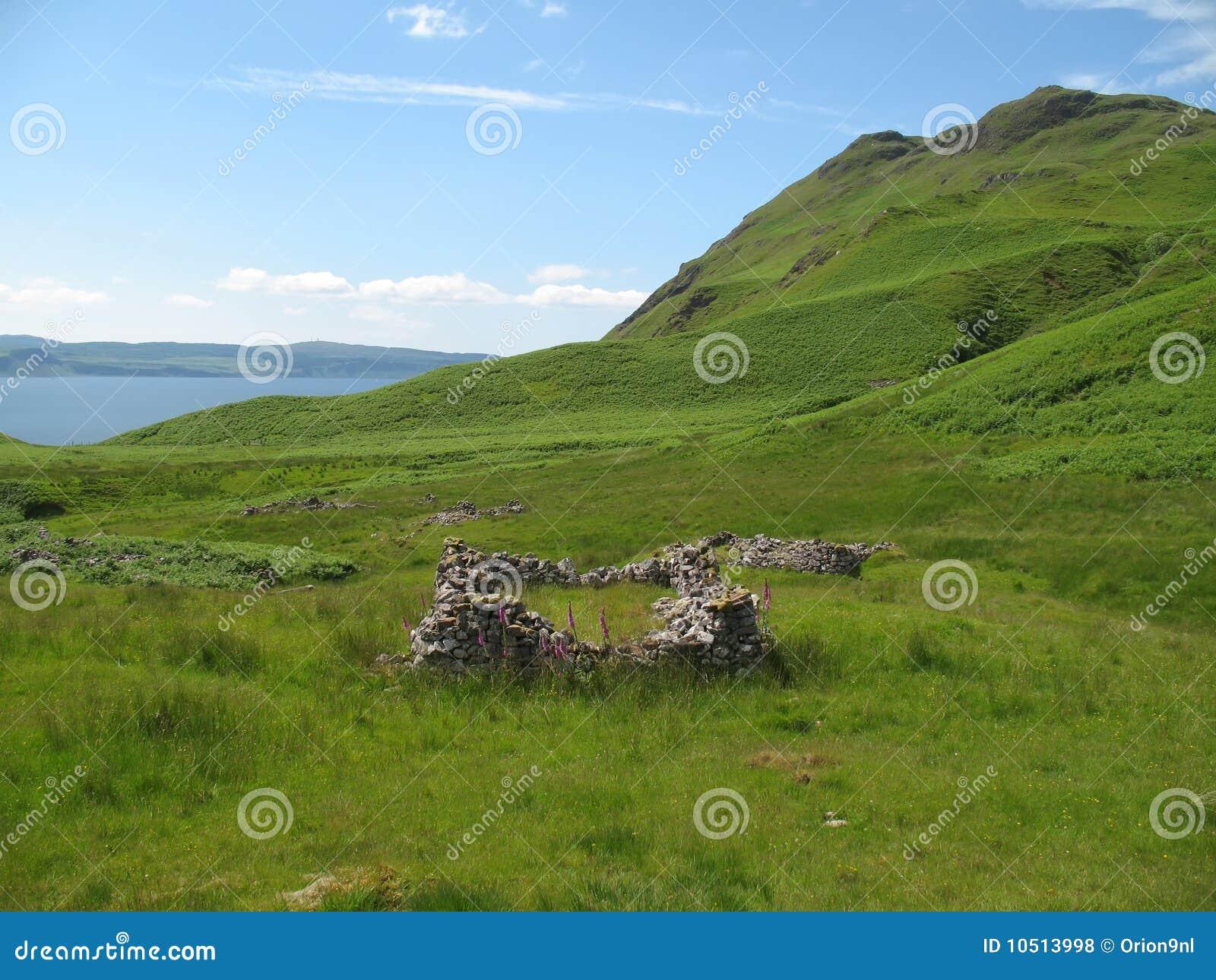 губит село Шотландии
