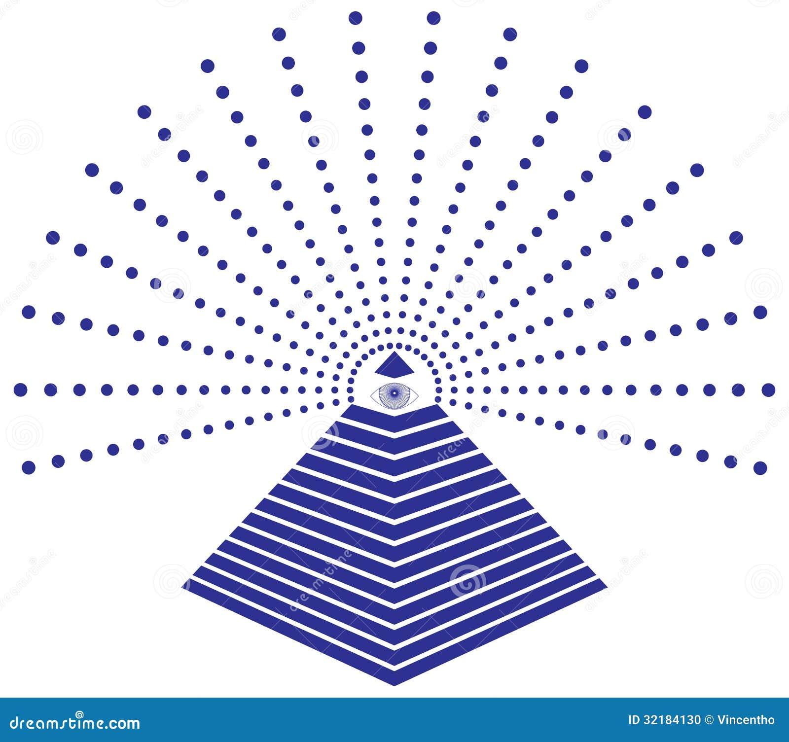 Глаз Freemason иллюстрации Провиденса