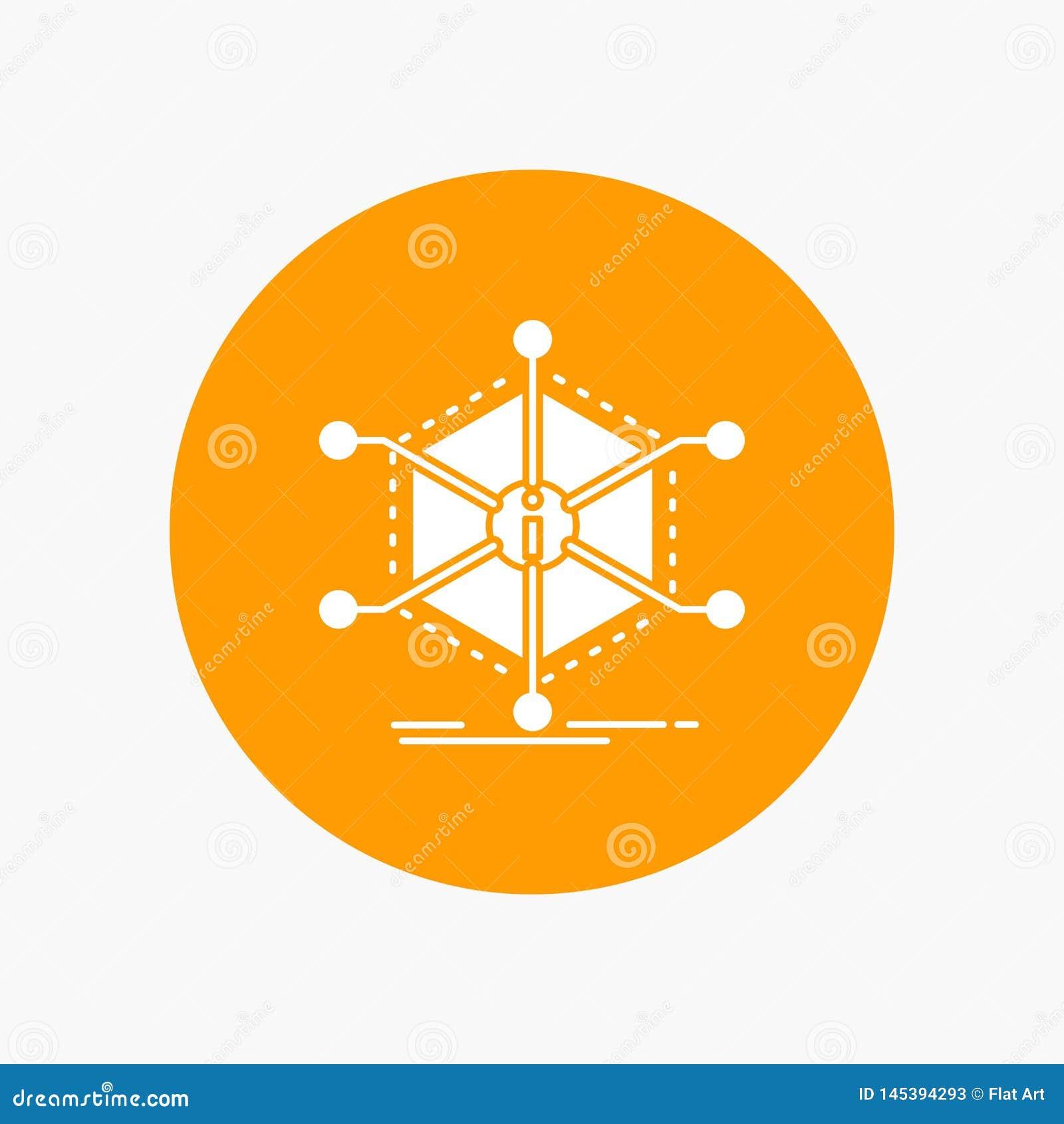 Данные, помощь, информация, информация, значок глифа ресурсов белый в круге r