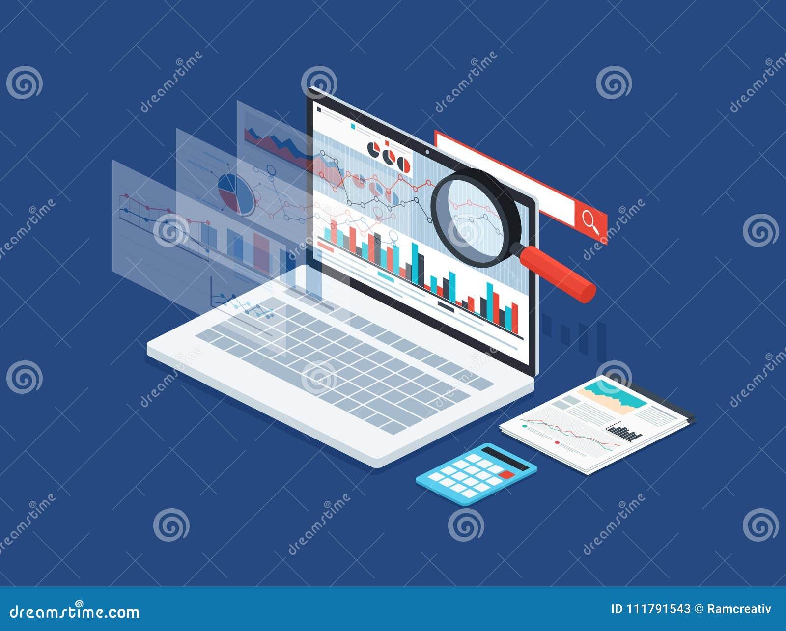 Данные по анализа и статистика развития Современная концепция стратегии бизнеса, данных по поиска, цифрового маркетинга