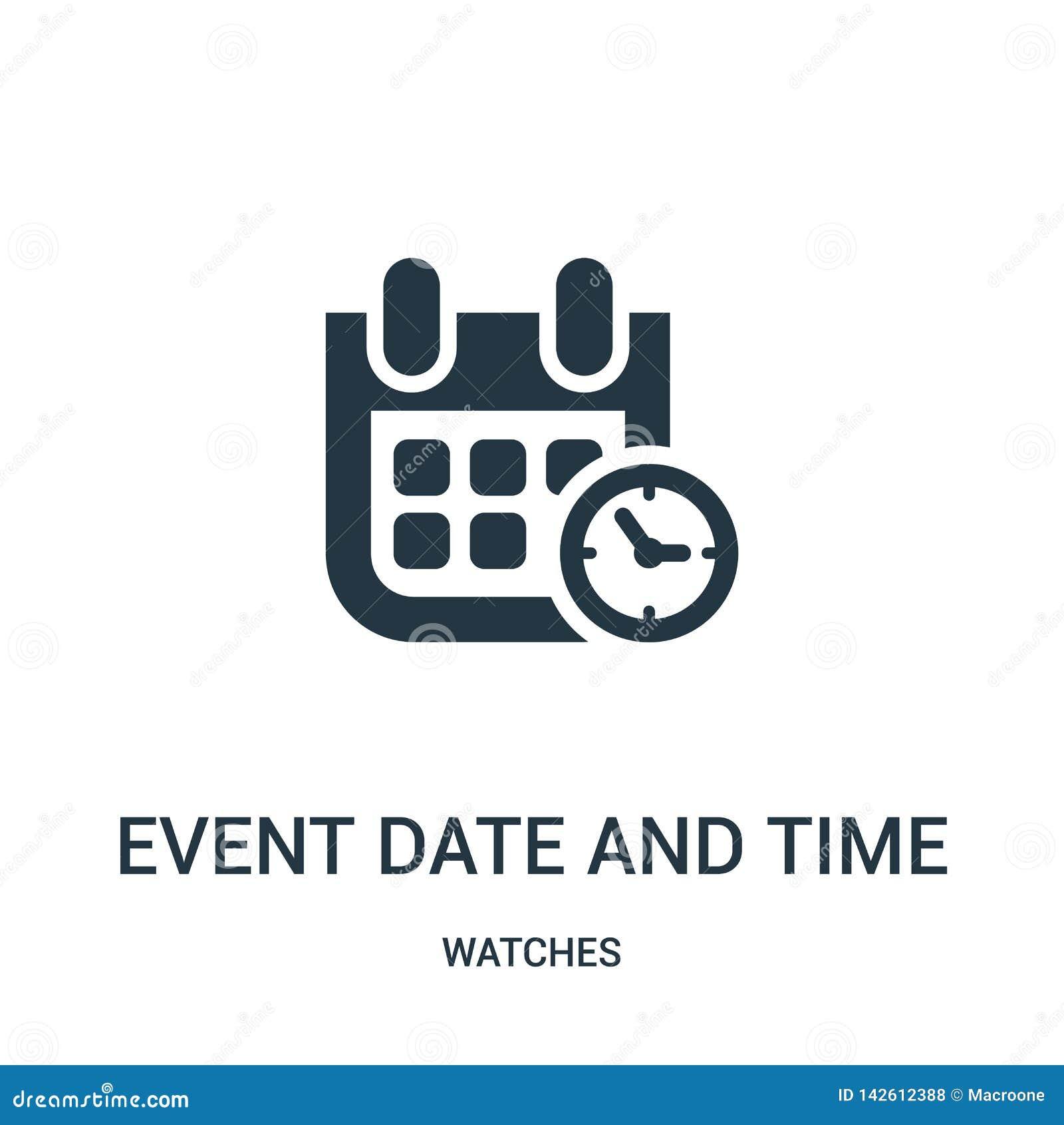 дата события и вектор значка символа времени от собрания дозоров Тонкая линия дата события и вектор значка плана символа времени