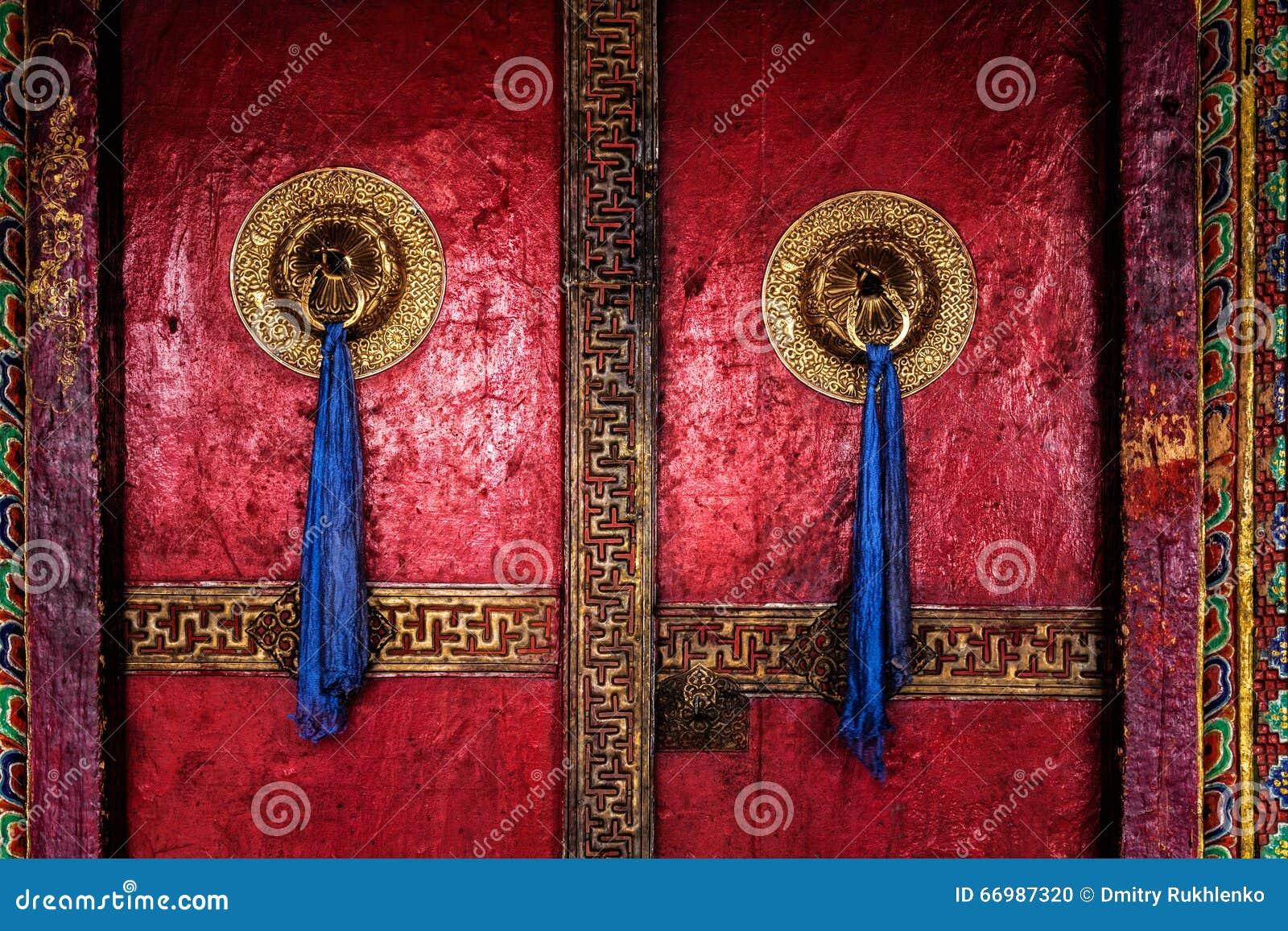 Дверь монастыря Spituk Ladakh, Индия