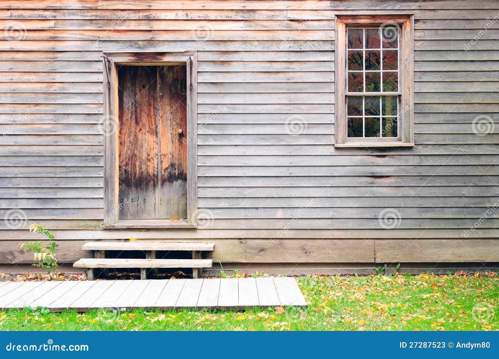 Дверь, стена и окно сбора винограда деревянные