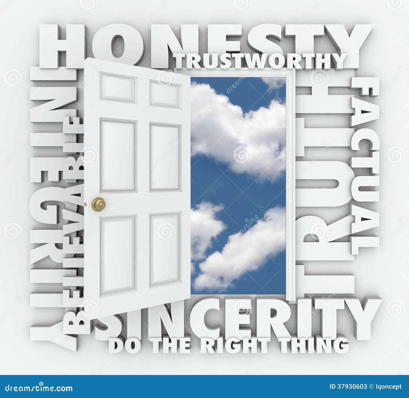 Дверь слова репутации 3D целостности правды честности