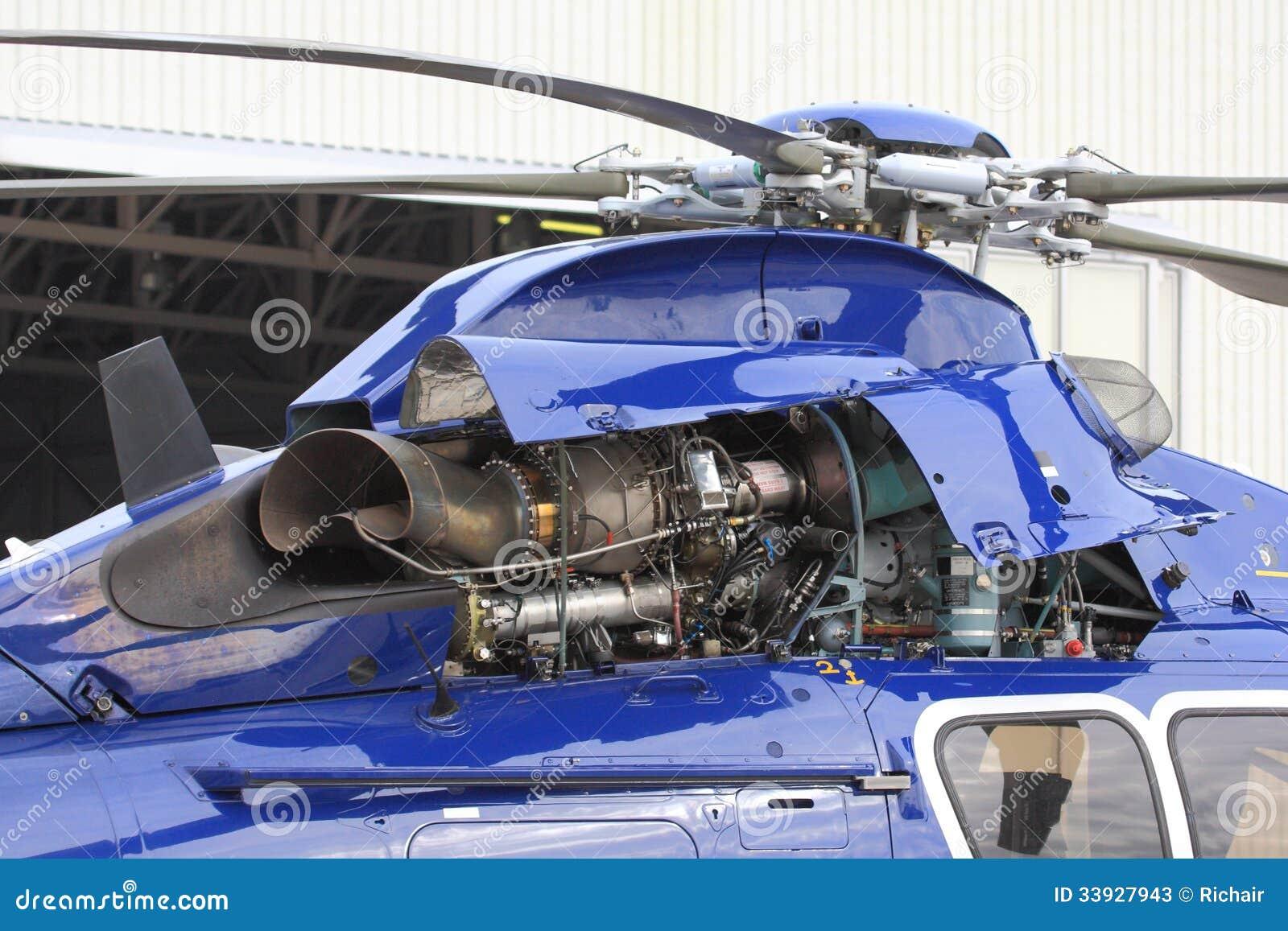 Двигатель турбины вертолета