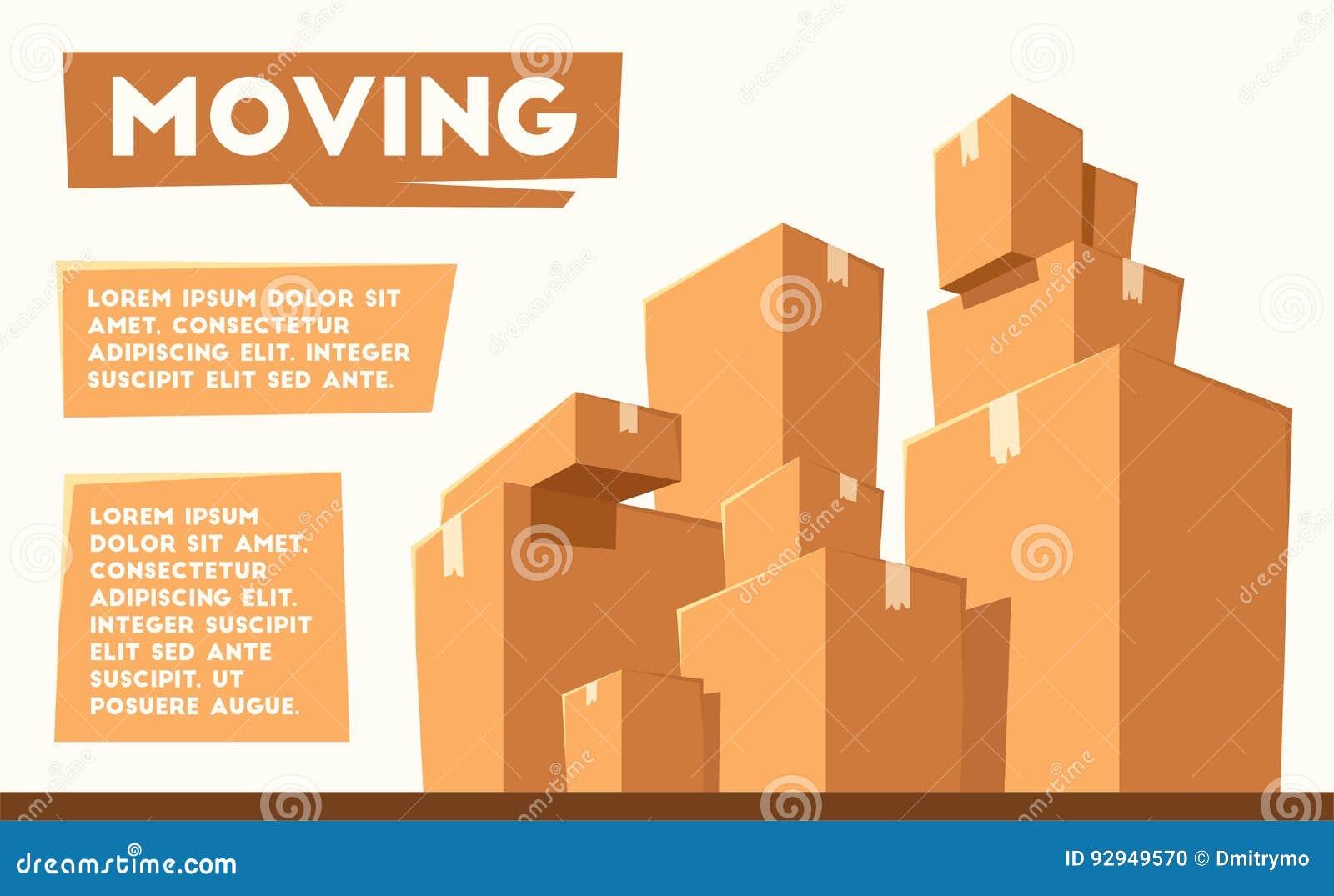 Двигать с коробками Компания перехода alien кот шаржа избегает вектор крыши иллюстрации
