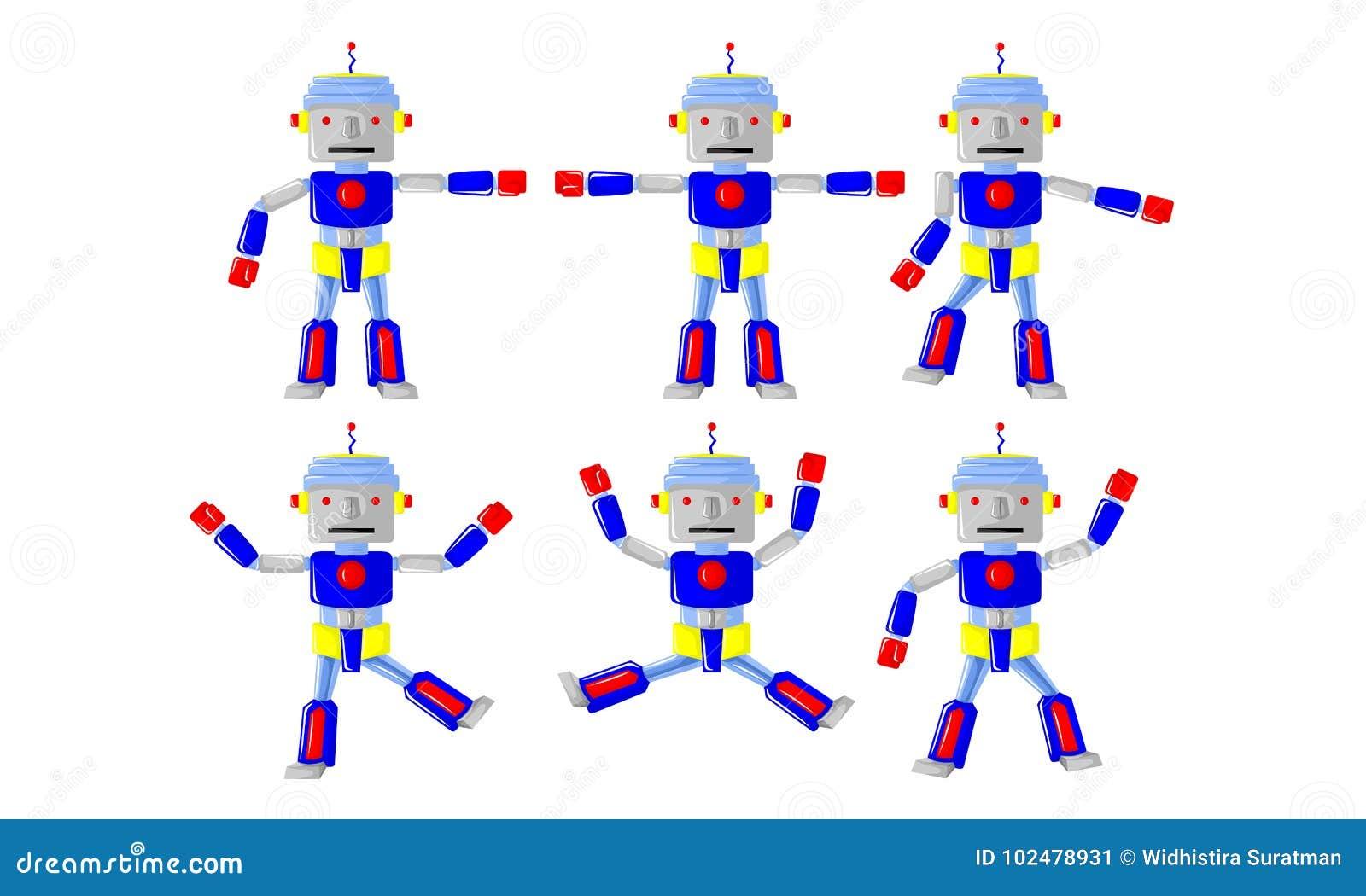 Движение тела робота