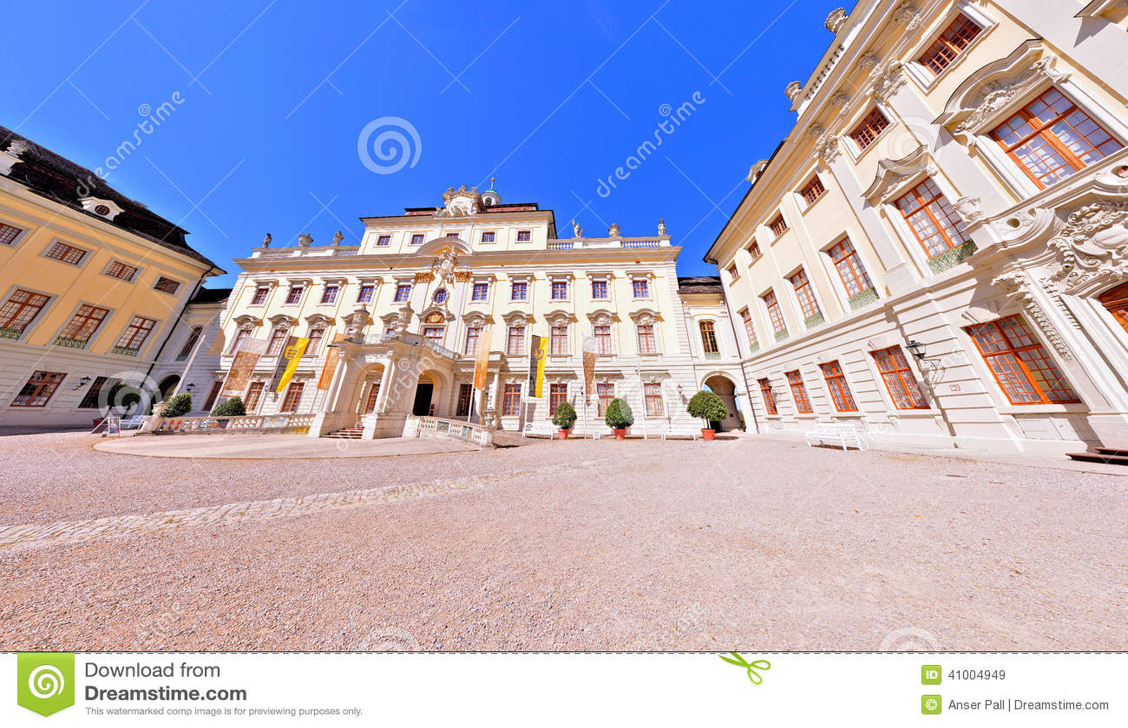 Дворец Германия Ludwigsburg жилой