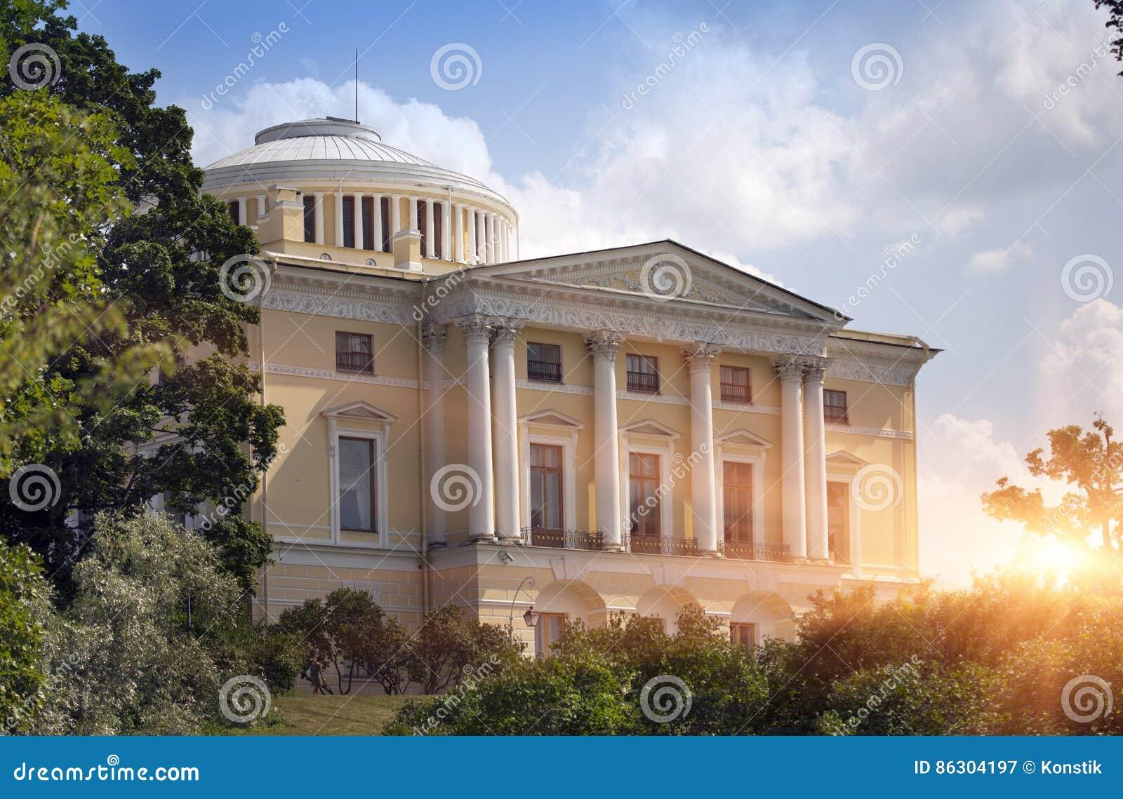 Дворец Павловска, 18 столетие, русская имперская резиденция в Павловске около Санкт-Петербурга, России