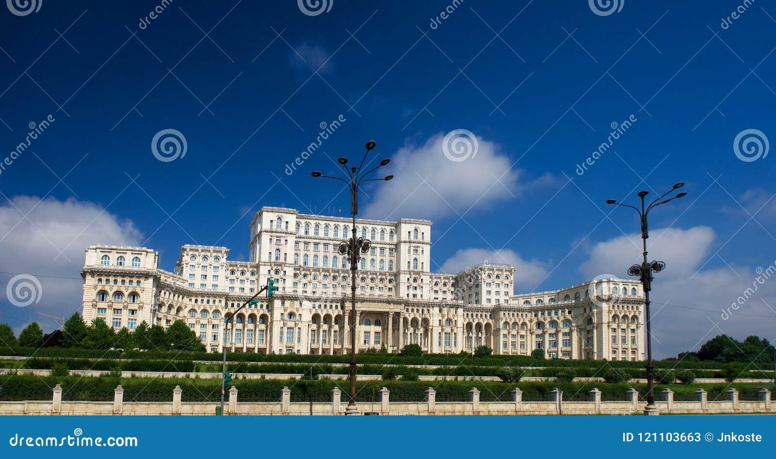 Дворец Ceausescu парламента Бухареста Румынии