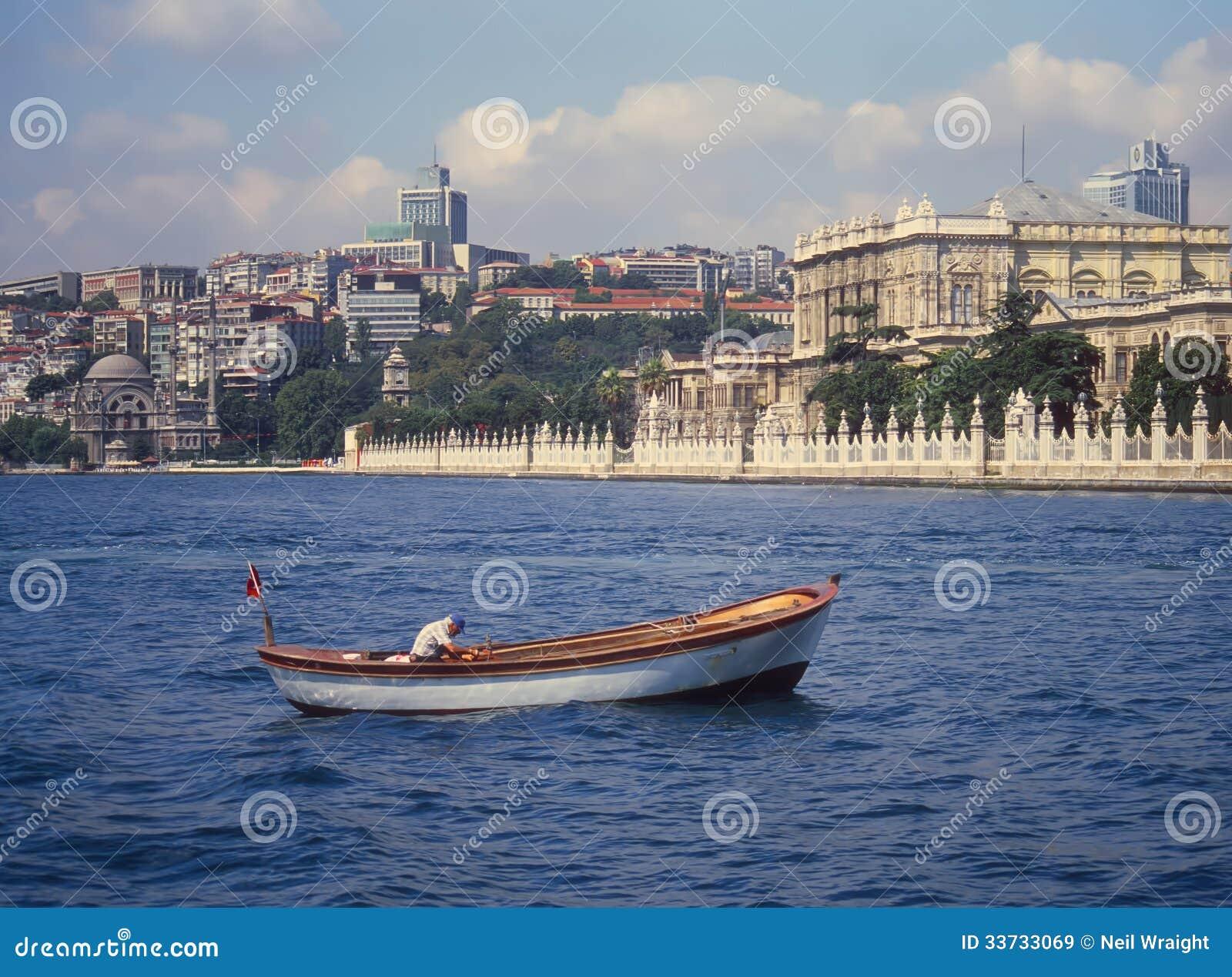 Дворец Ciragan, Стамбул от пролива Bosphorus