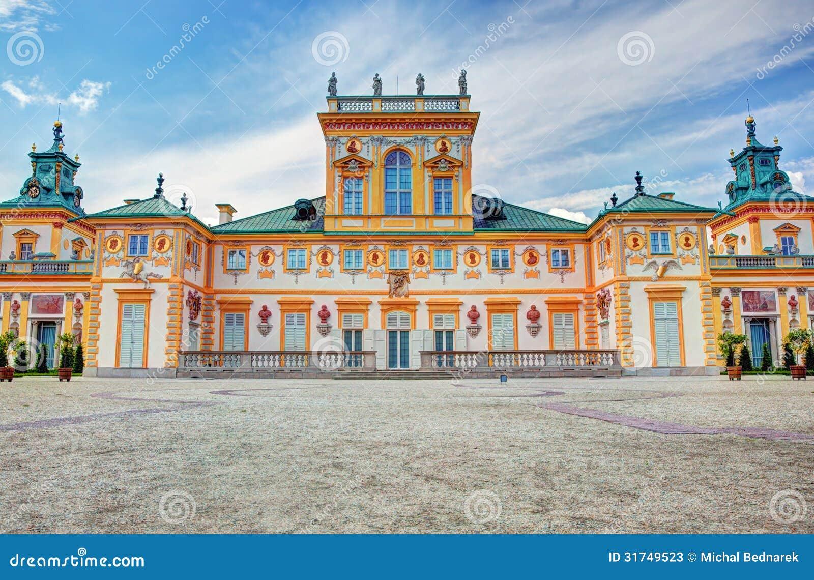 Дворец Wilanow в Варшаве, Польше