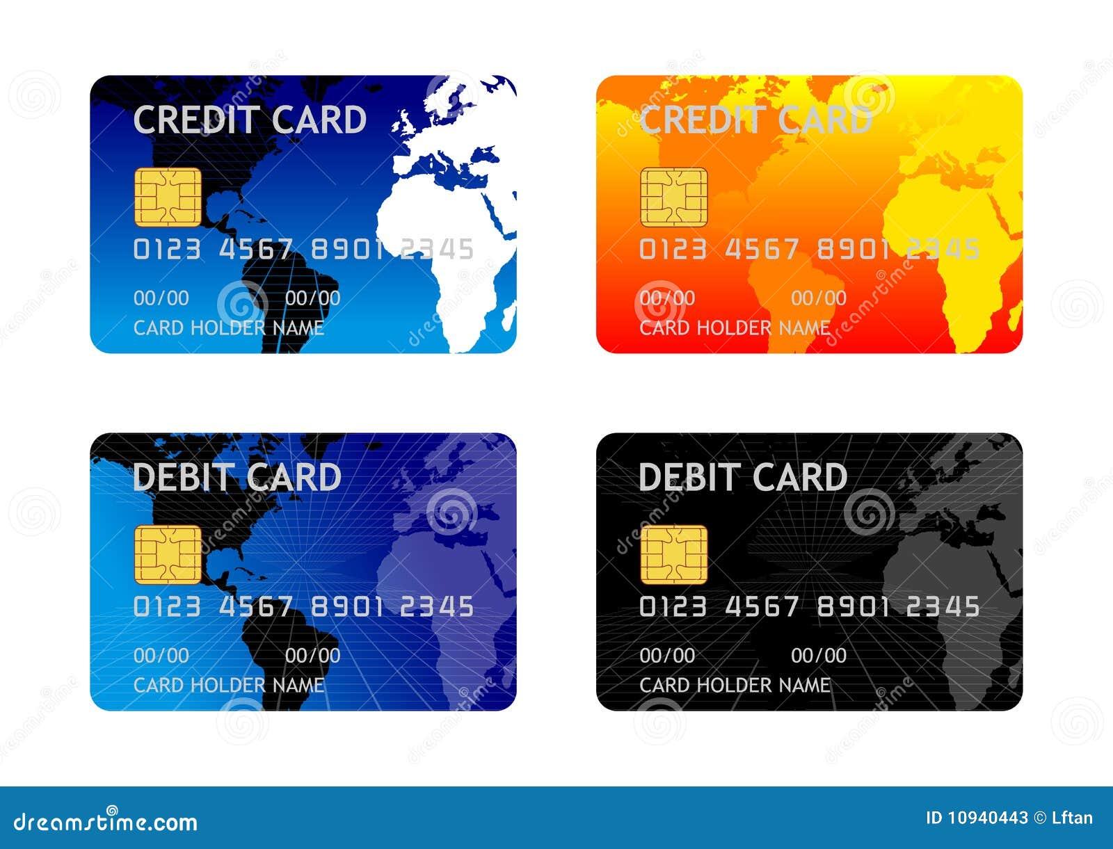 дебит кредита карточки