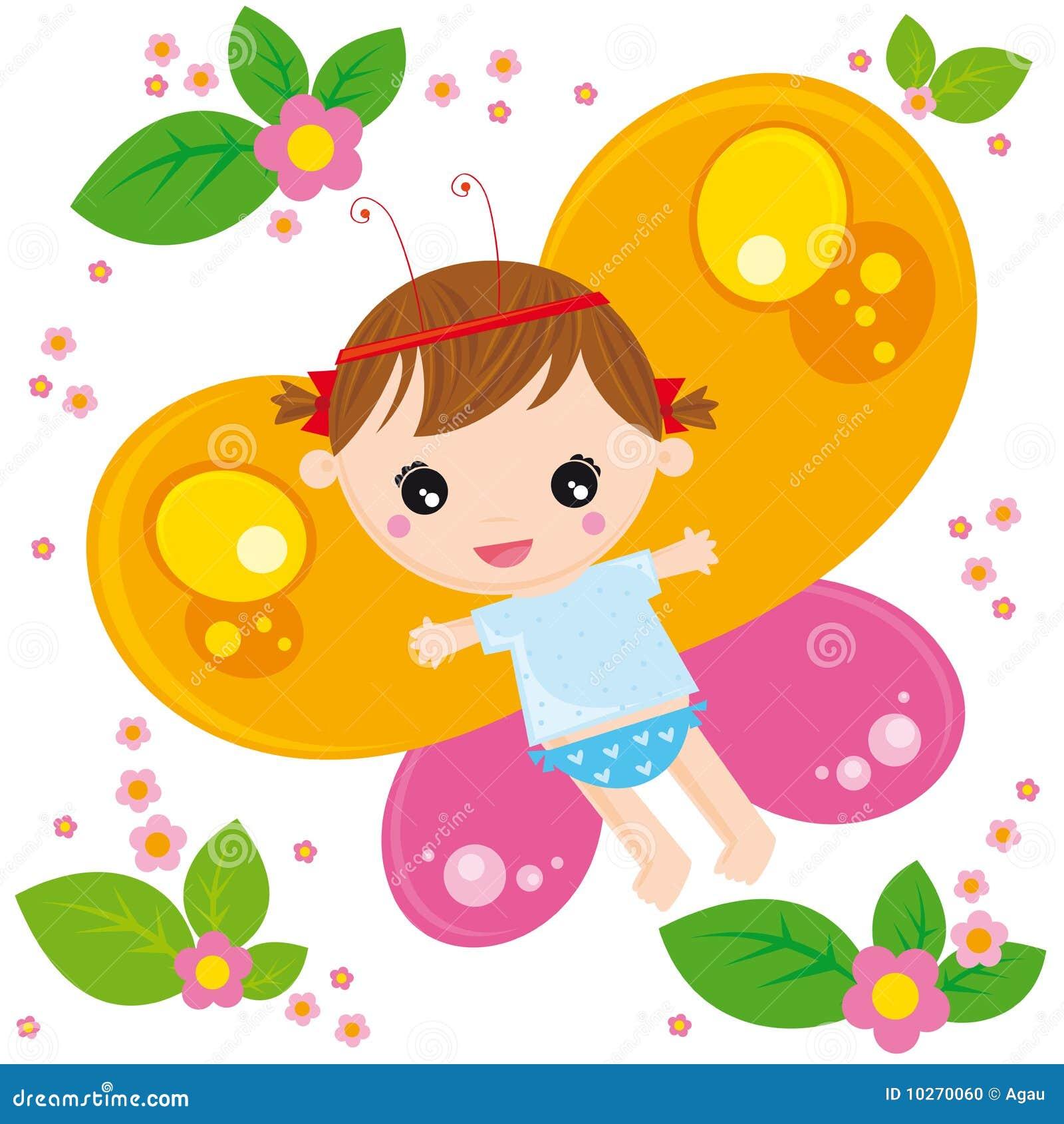 девушка бабочки