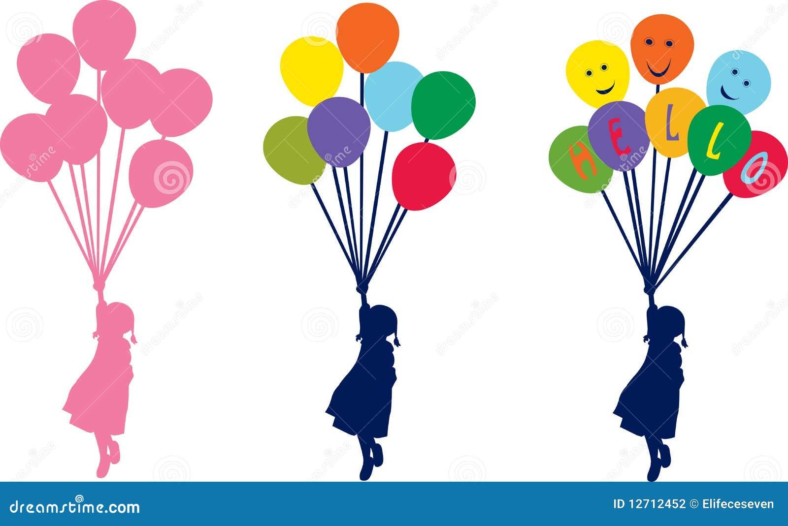 девушка воздушного шара