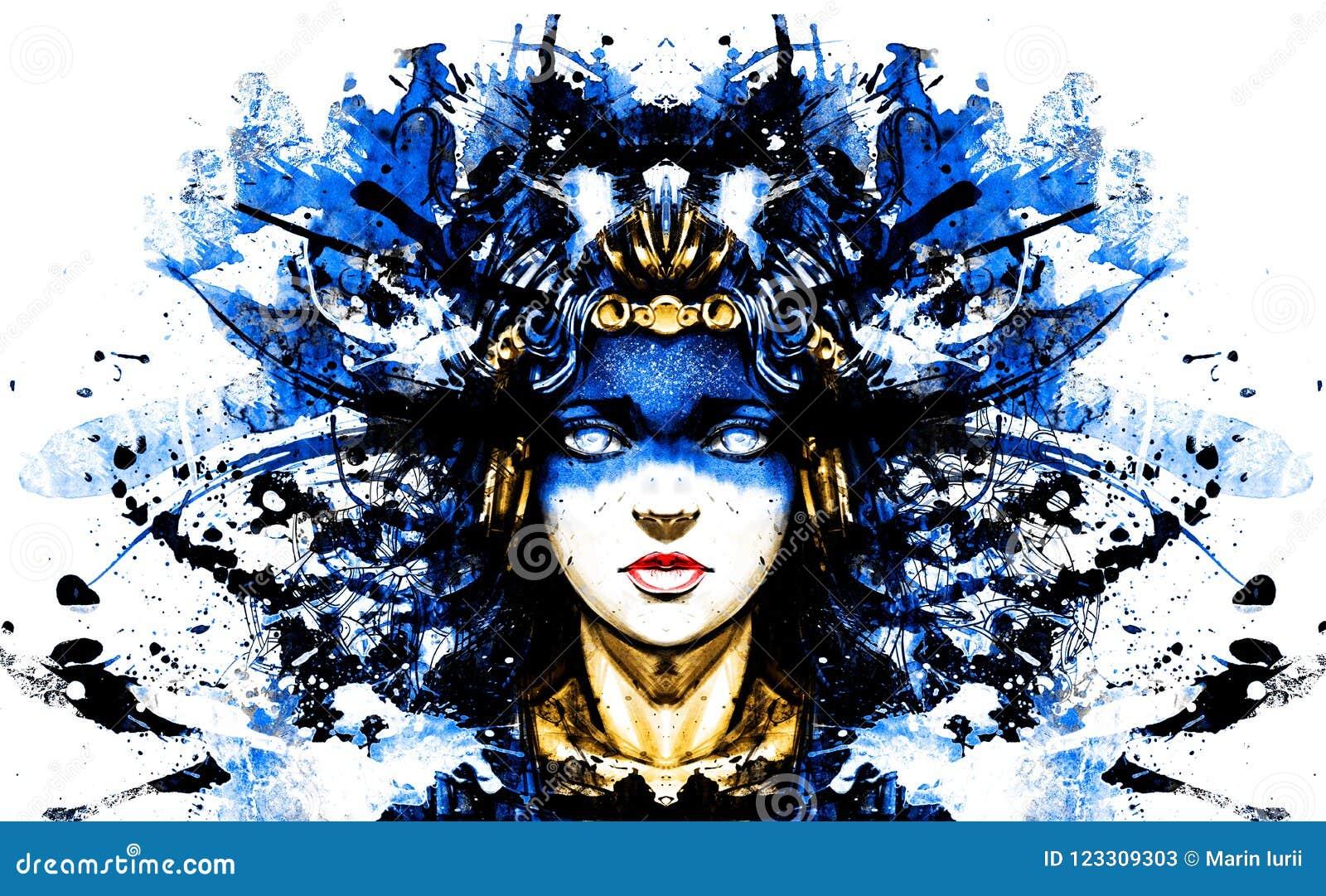 девушка в ритуальном платье