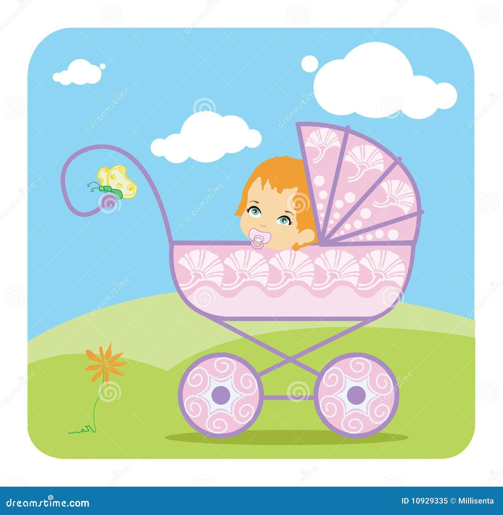 девушка детской дорожной коляски