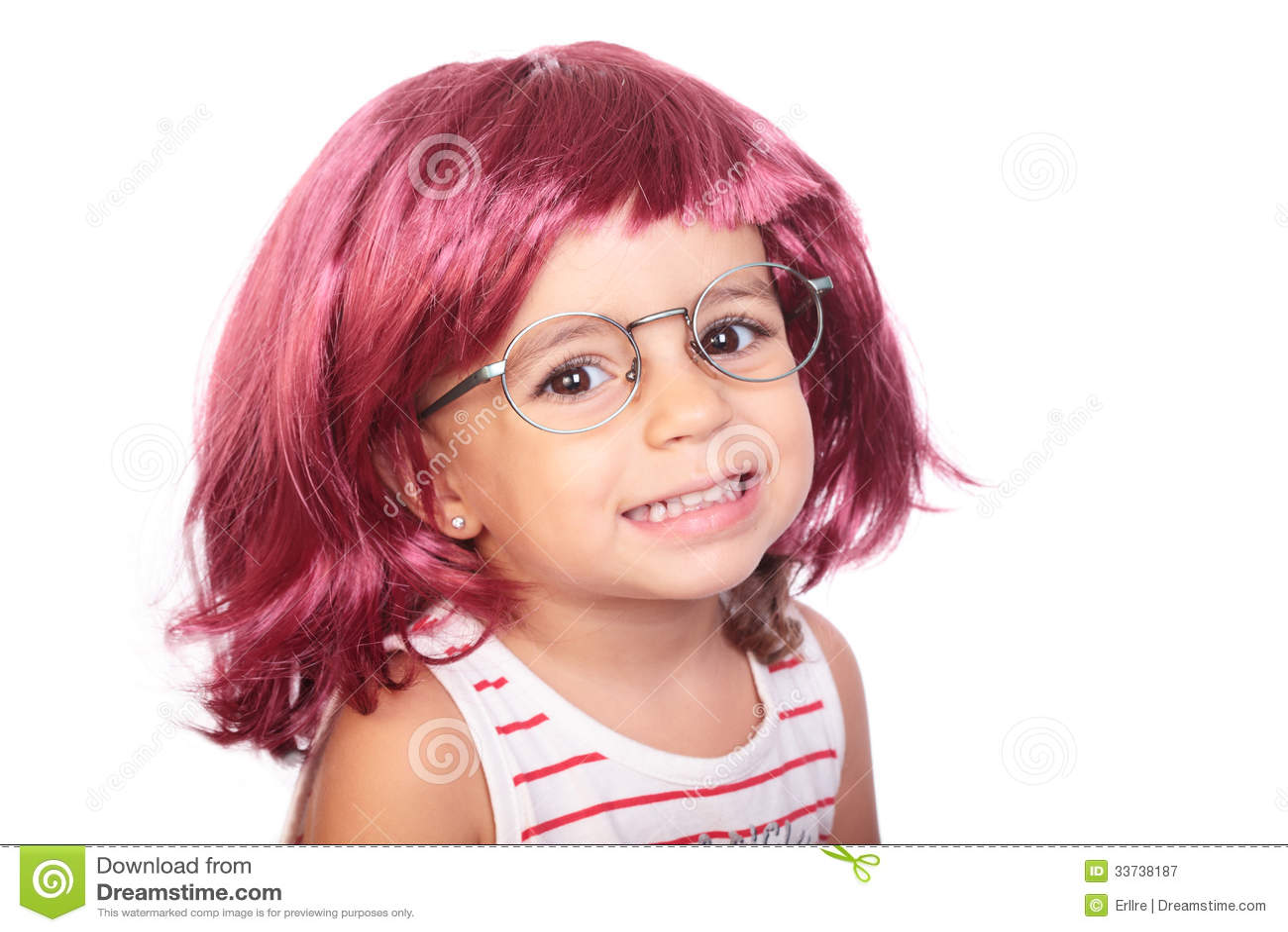 Девушка и парик