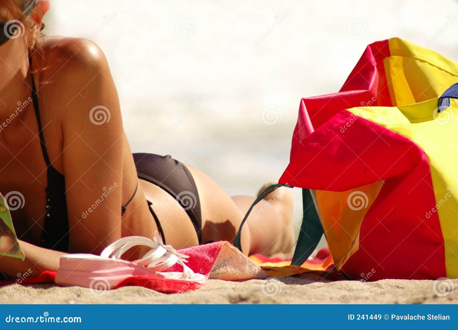 девушка пляжа красивейшая